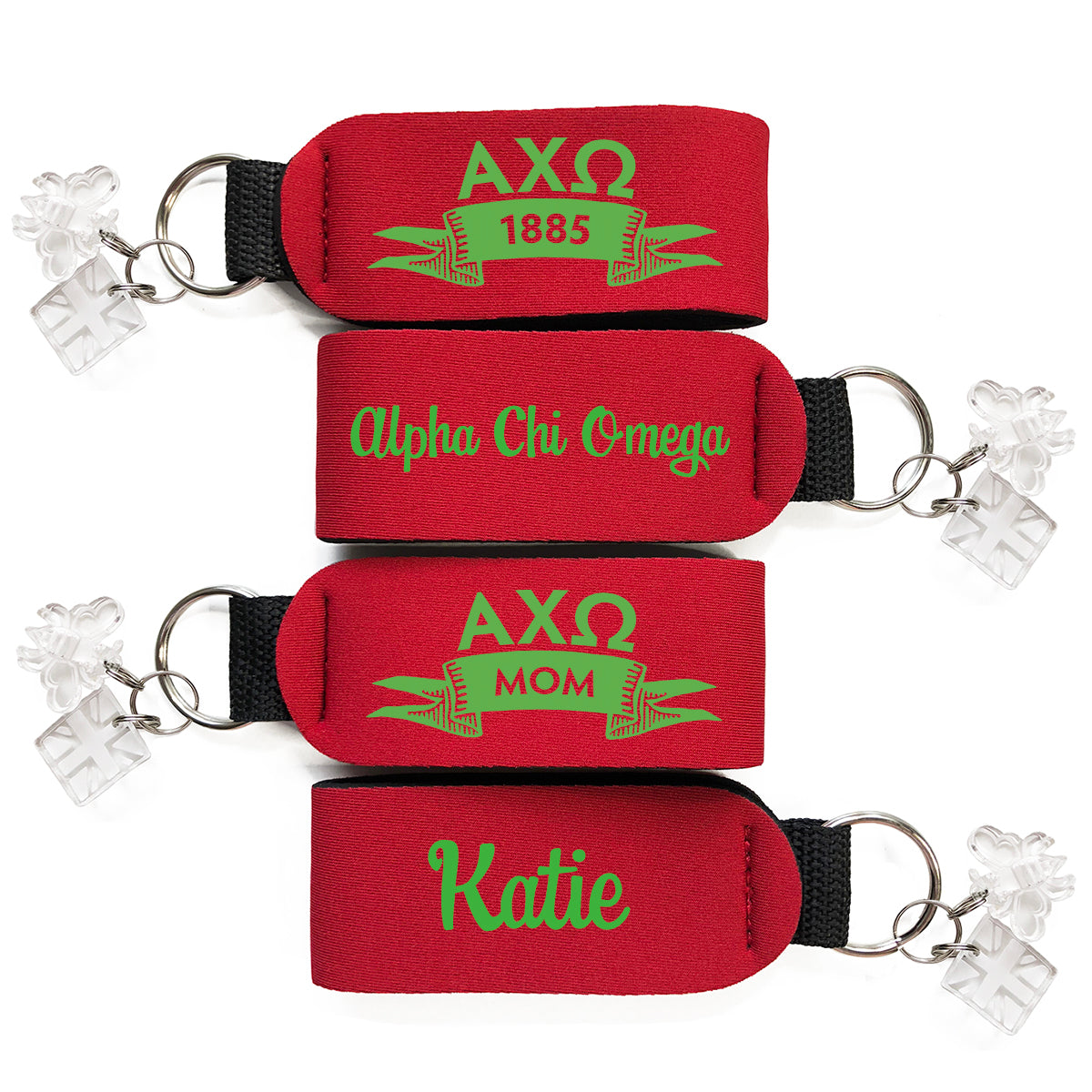 Brit and Bee Sorority Keychain - Alpha Chi Omega