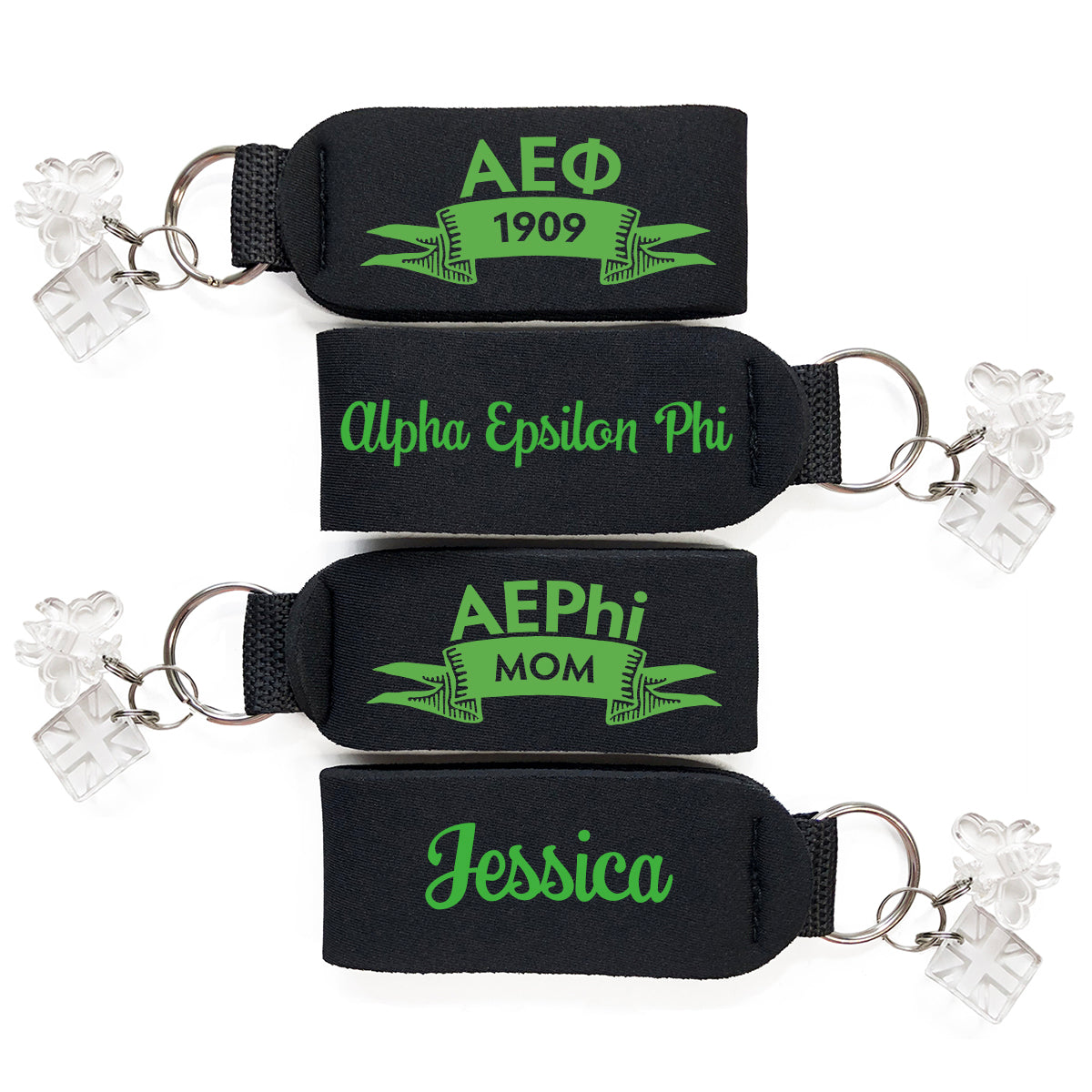 Brit and Bee Sorority Keychain - Alpha Epsilon Phi