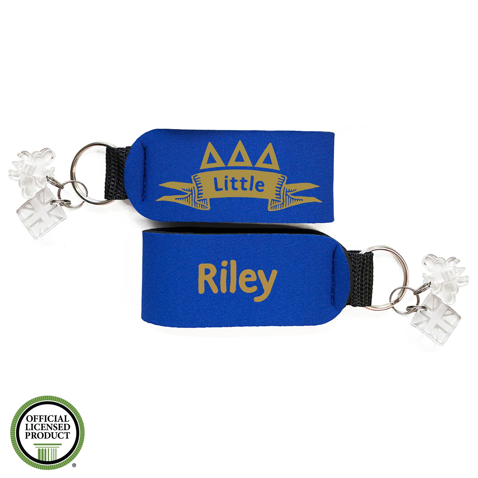 Brit and Bee Sorority Keychain - Delta Delta Delta