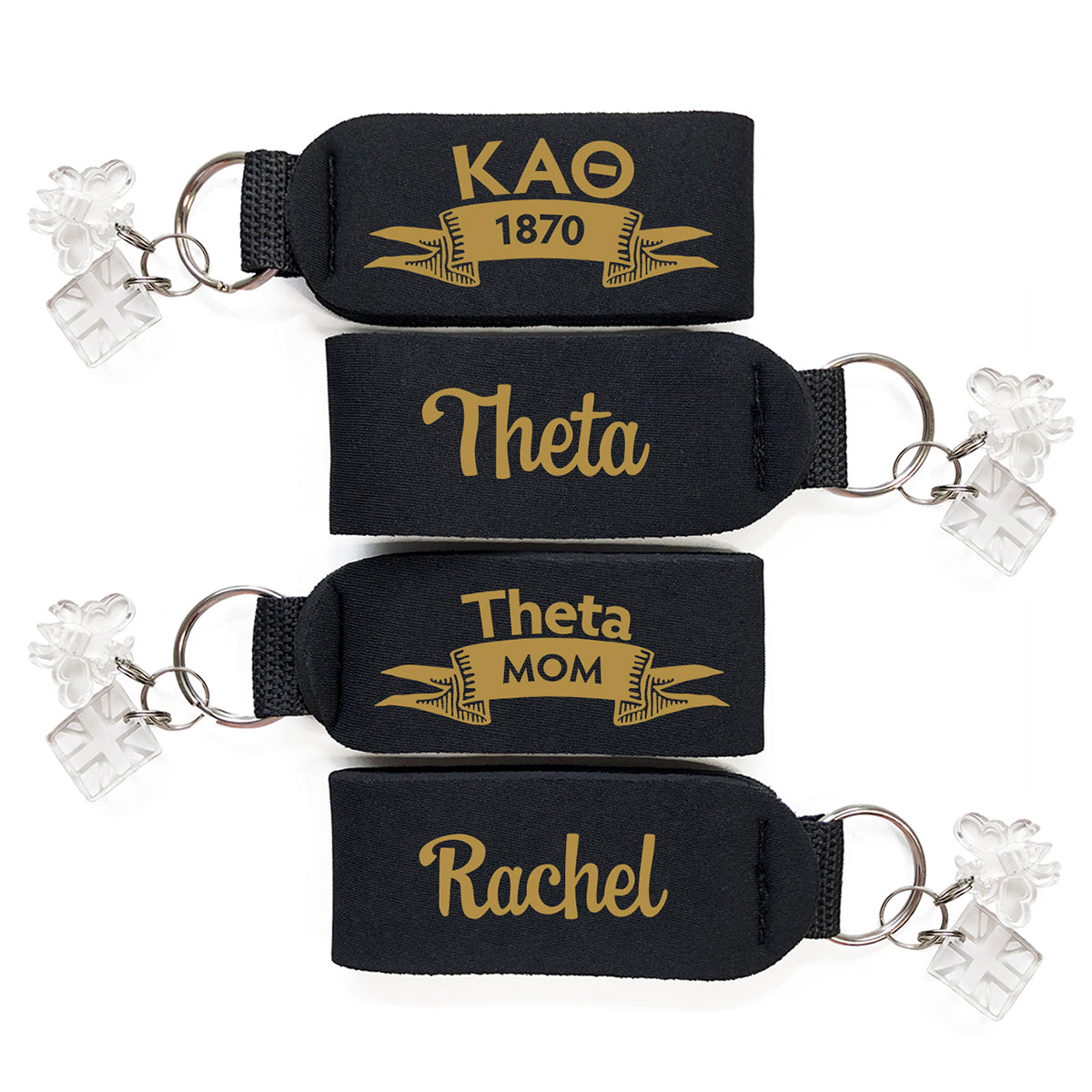 Brit and Bee Sorority Keychain - Kappa Alpha Theta