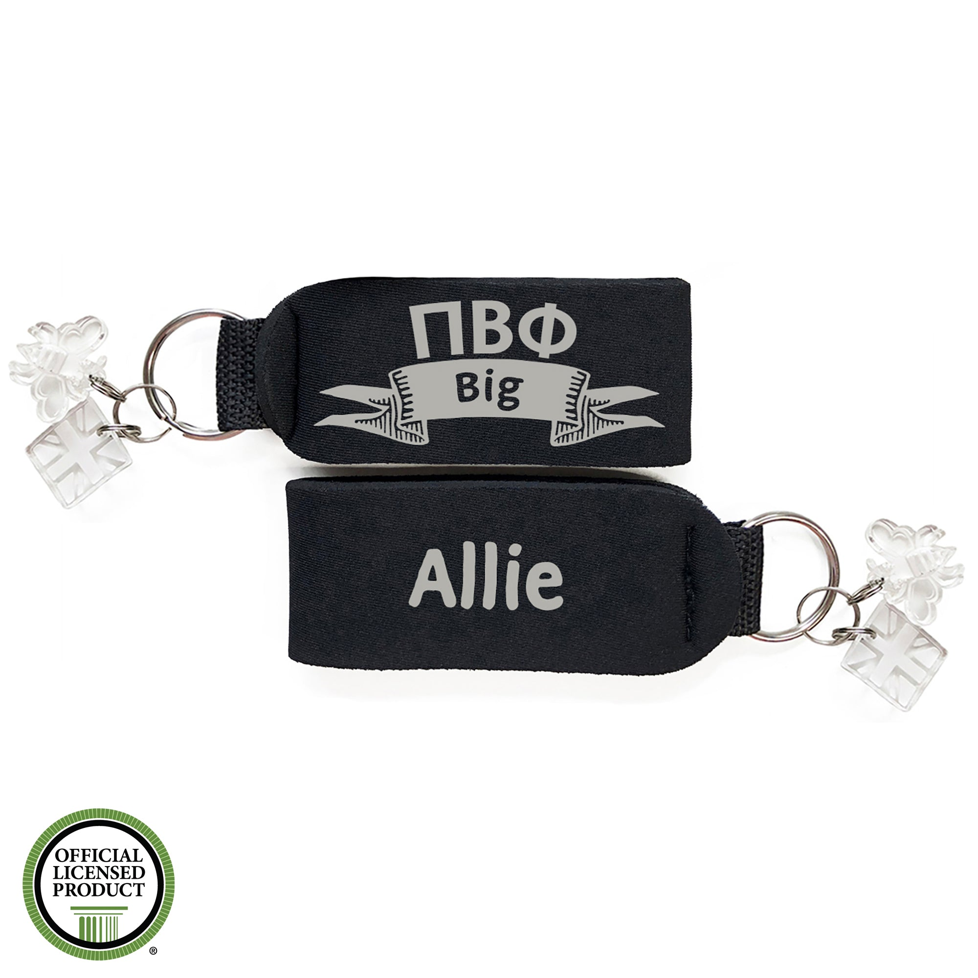 Brit and Bee Sorority Keychain - Pi Beta Phi