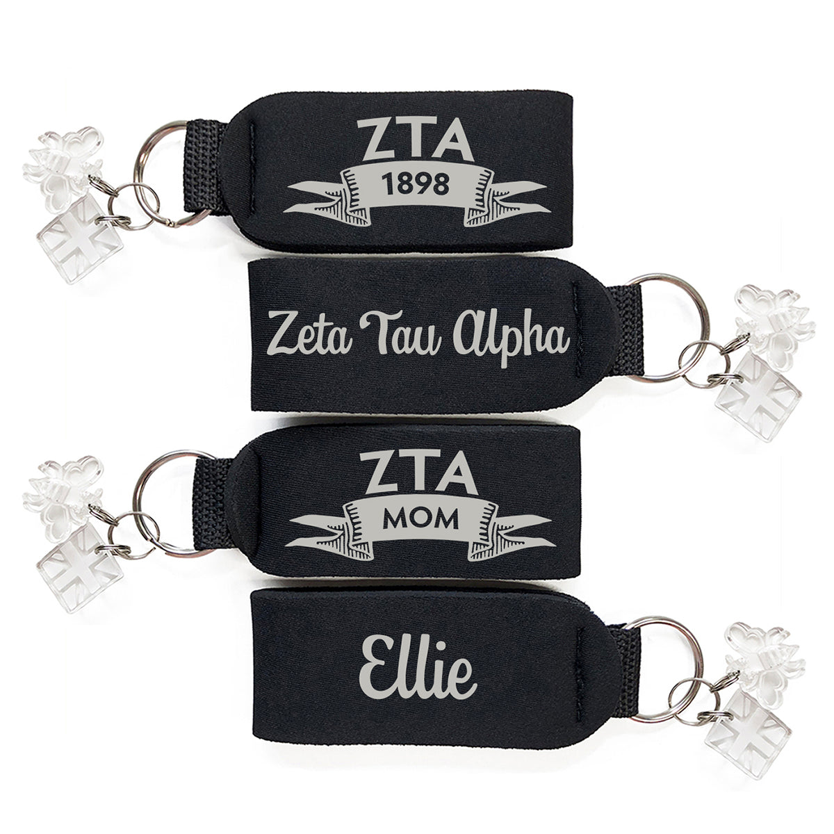Brit and Bee Sorority Keychain - Zeta Tau Alpha