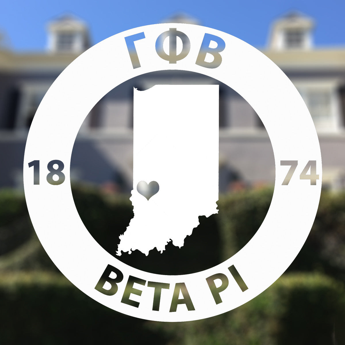 Brit and Bee Sorority State Decal - Gamma Phi Beta