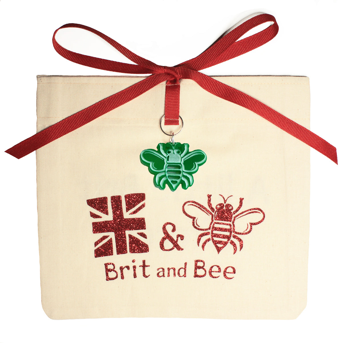 Brit and Bee Sorority Ribbon Year Decal - Alpha Gamma Delta