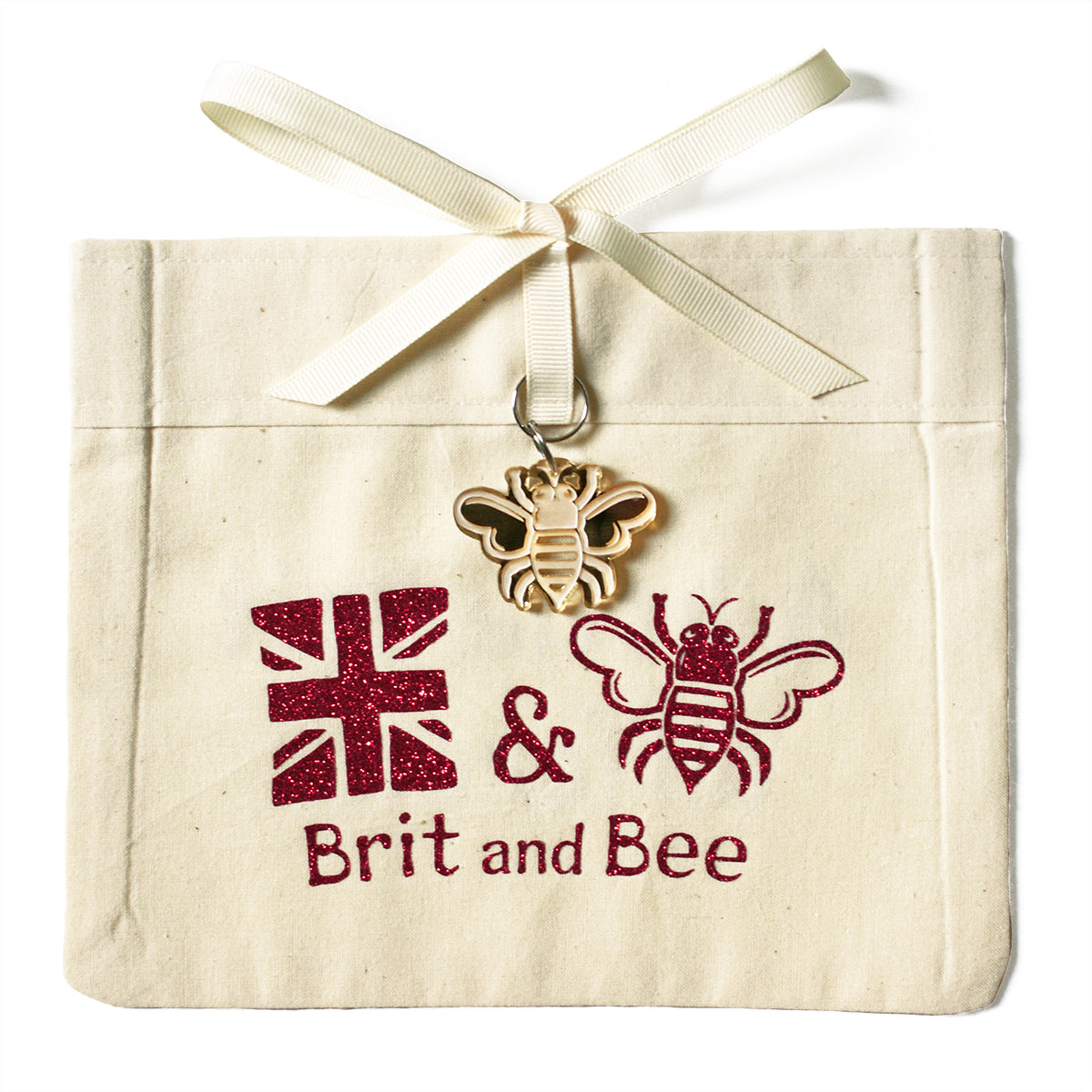 Brit and Bee Sorority Ribbon Alumna Decal - Alpha Omicron Pi