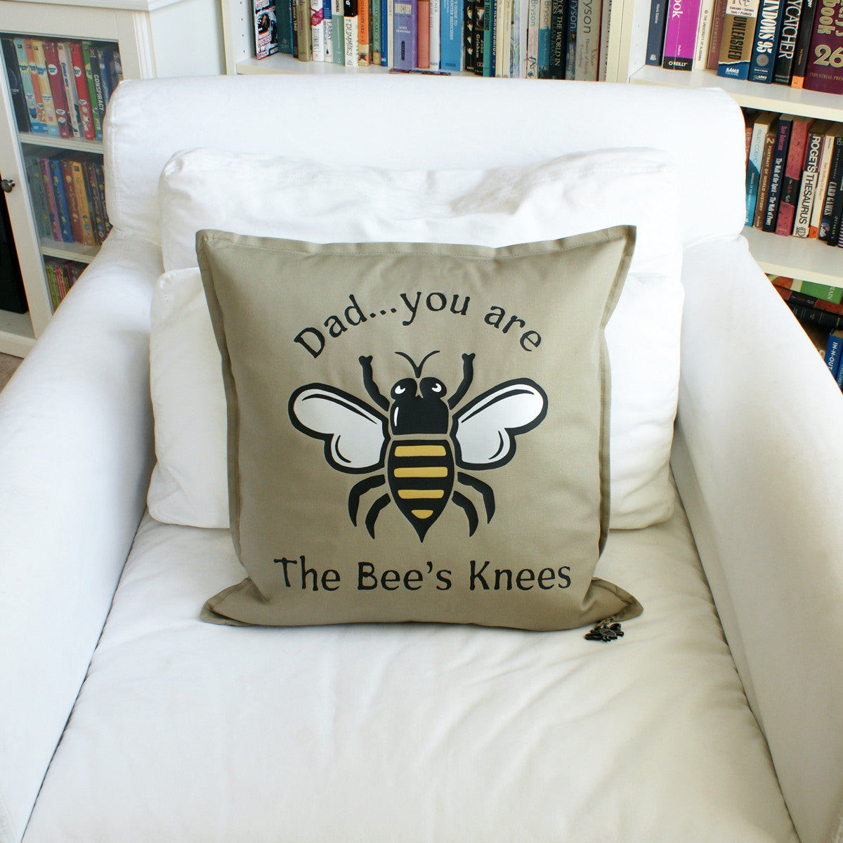 Brit and Bee Bee's Knees Throw Pillow - Dad CHAIR