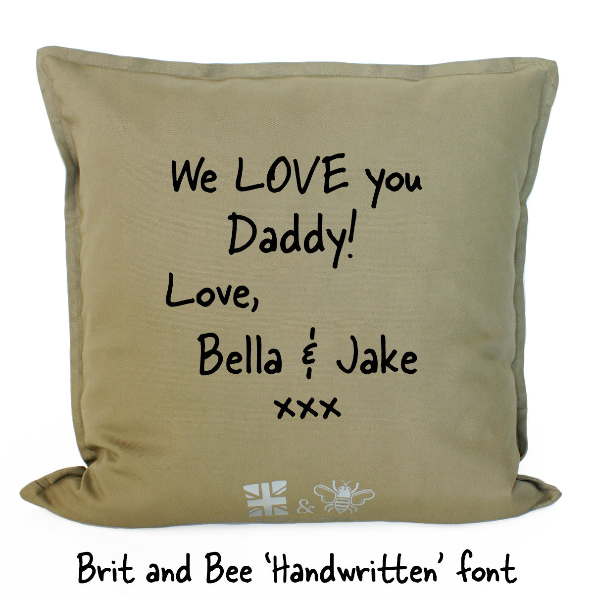 Brit and Bee Bee's Knees Throw Pillow - Dad DETAIL