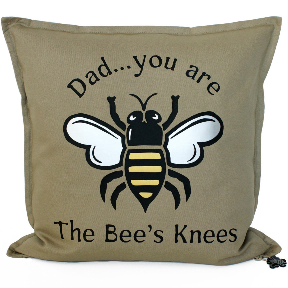 Brit and Bee Bee's Knees Throw Pillow - Dad FRONT