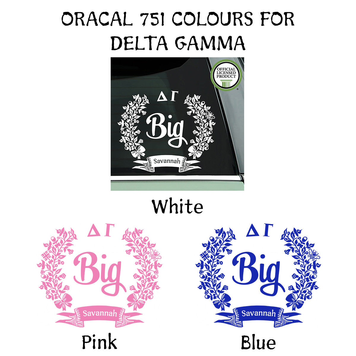 Brit and Bee Sorority Big Decal - Delta Gamma