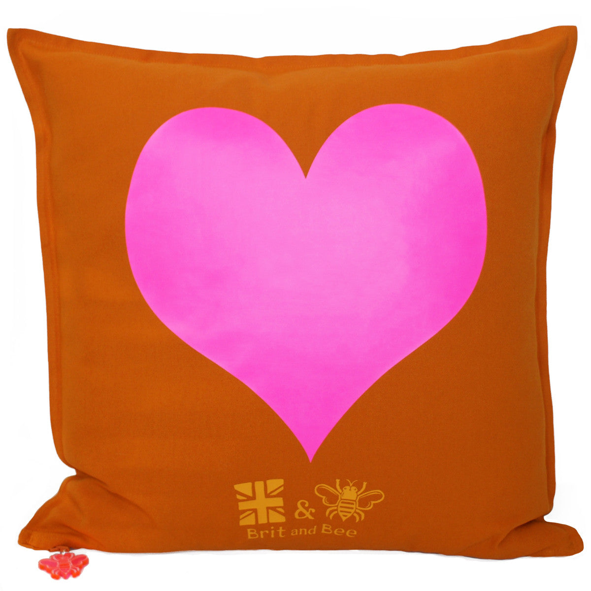 Brit and Bee Big Love Throw Pillow BACK