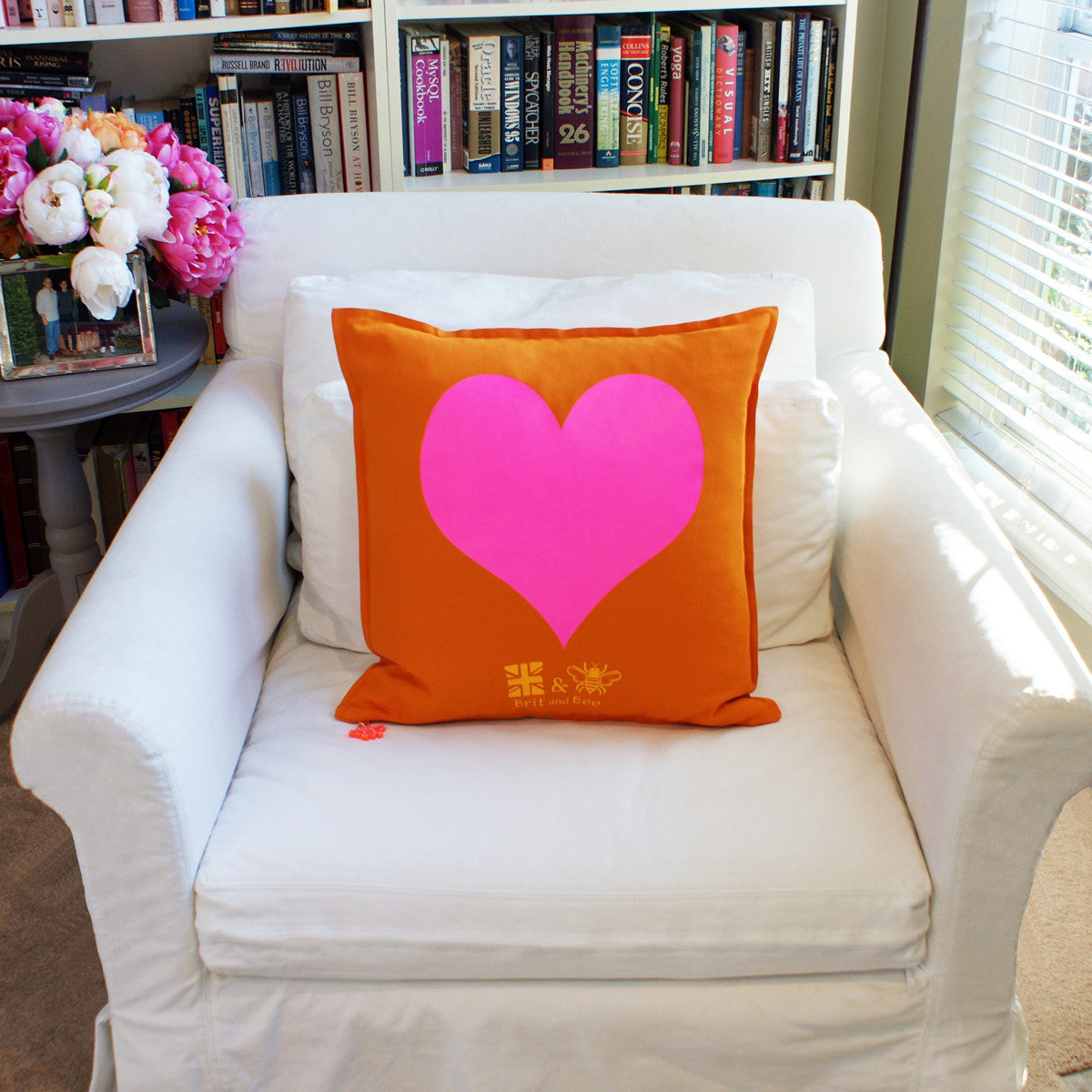 Brit and Bee Big Love Throw Pillow CHAIR Back