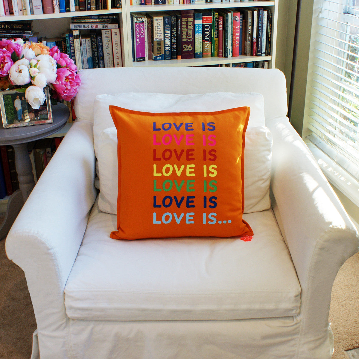 Brit and Bee Big Love Throw Pillow CHAIR Front