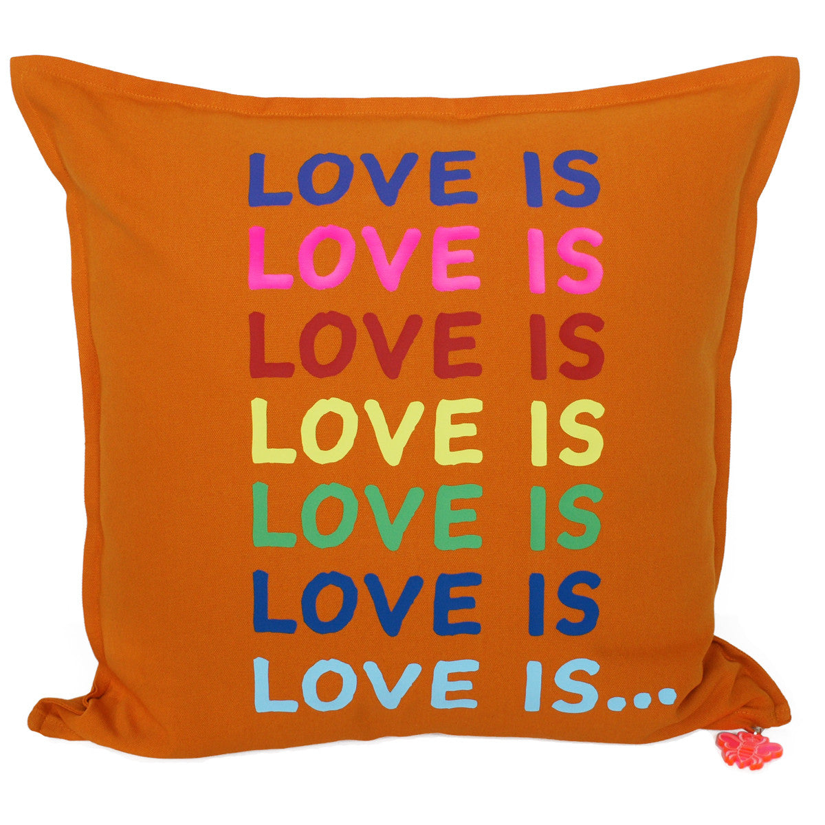 Brit and Bee Big Love Throw Pillow FRONT
