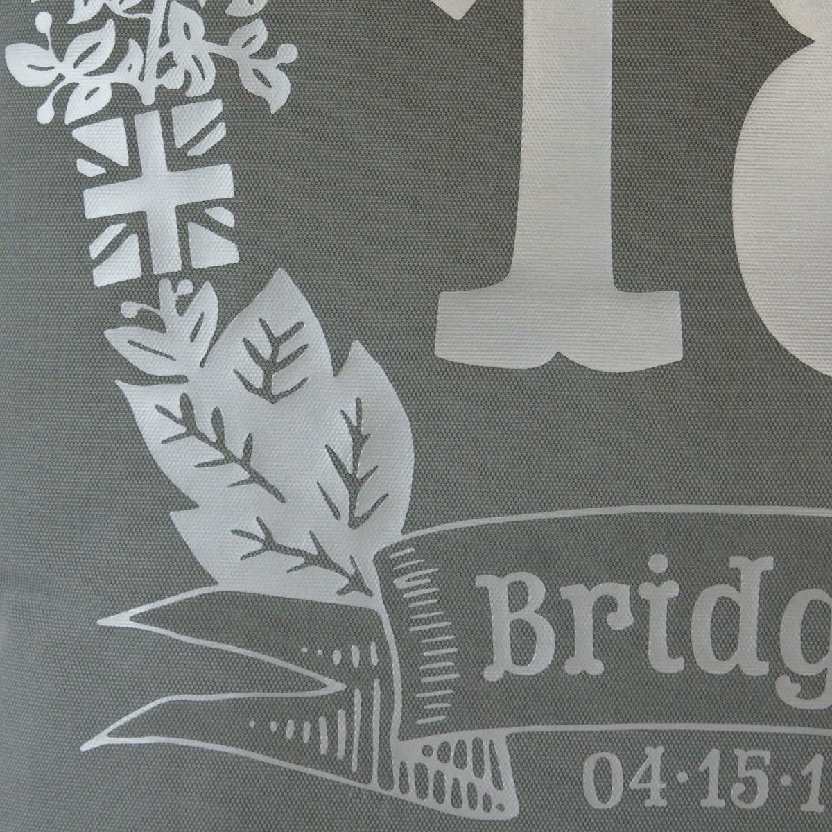 Brit and Bee Birthday Garland Throw Pillow - DETAIL