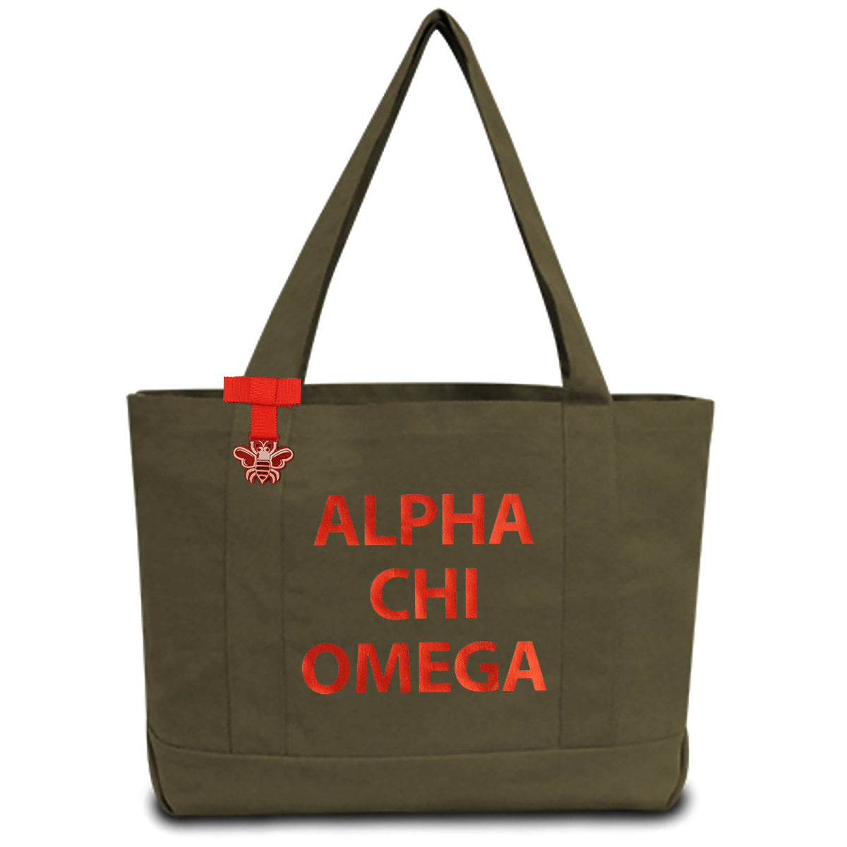 Alpha Chi Omega State Book Tote Bag | Brit and Bee