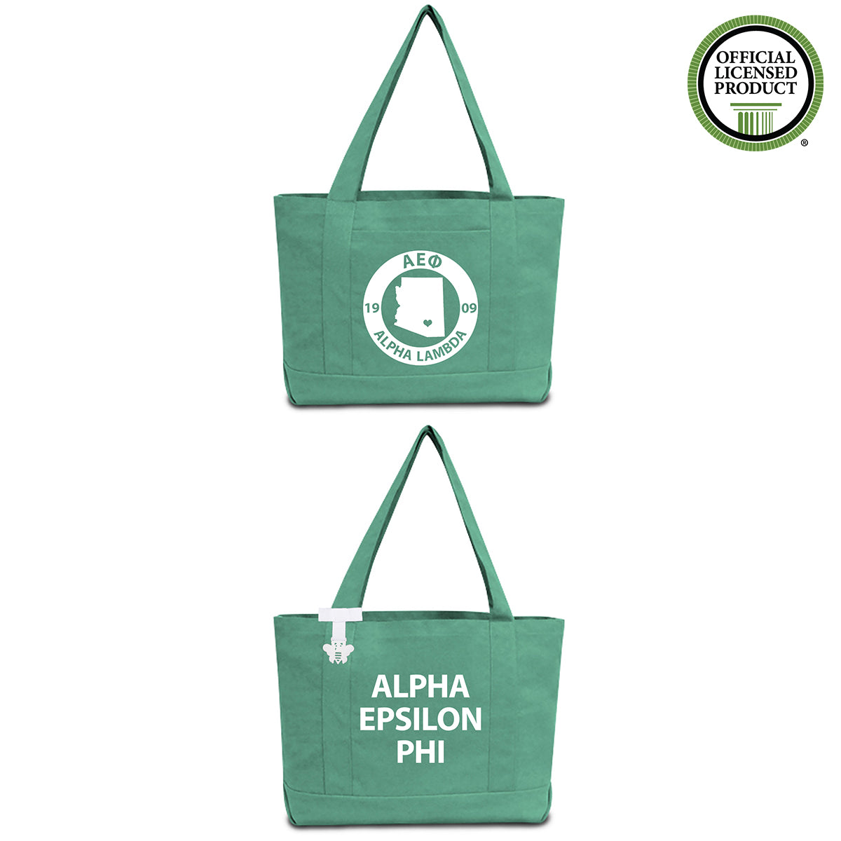 Alpha Epsilon Phi State Book Tote Bag | Brit and Bee