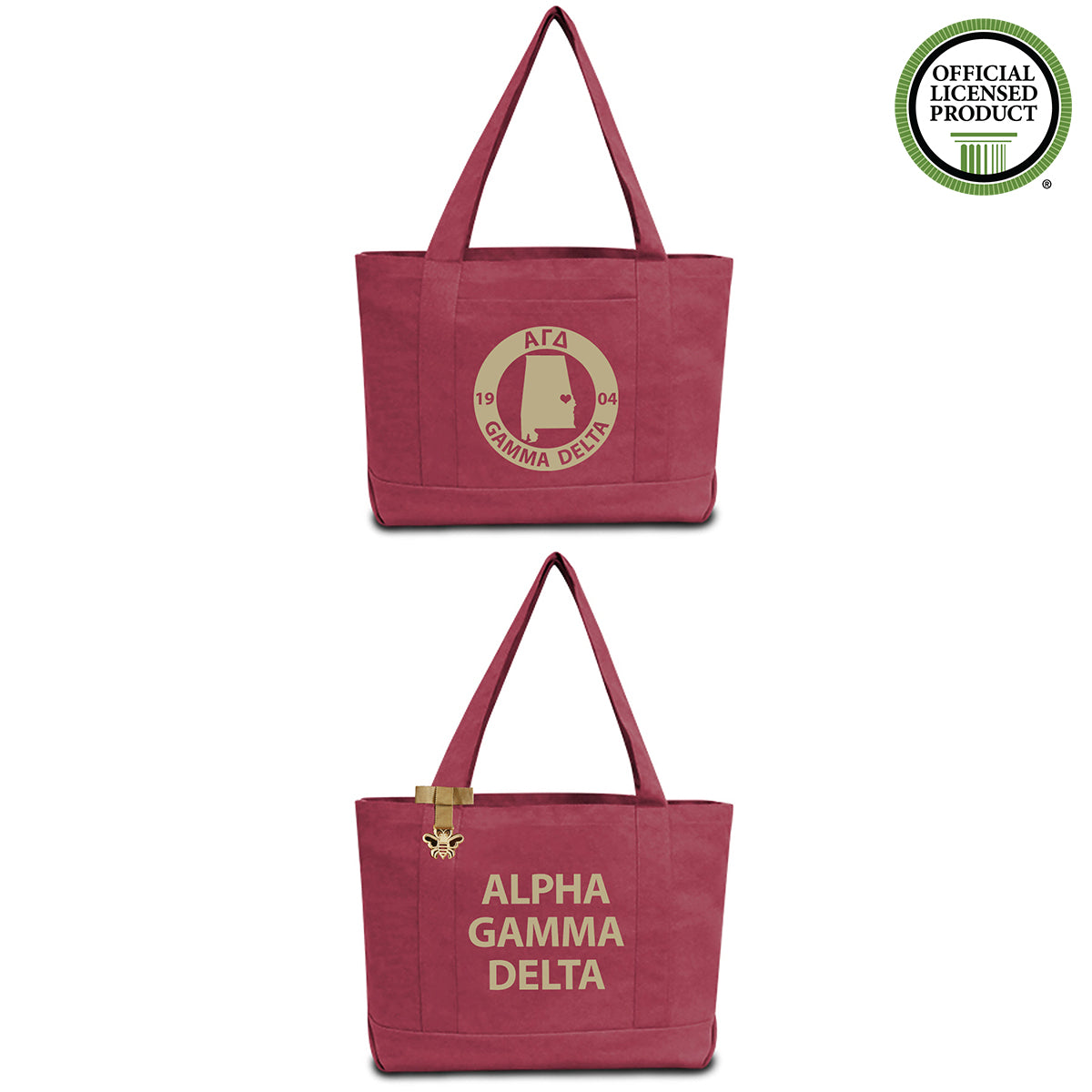 Alpha Gamma Delta State Book Tote Bag | Brit and Bee