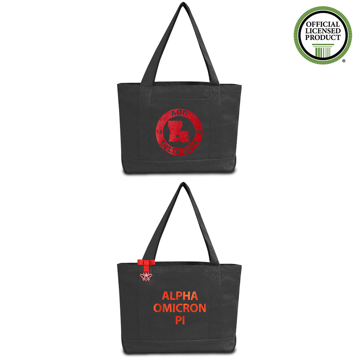 Alpha Omicron Pi State Book Tote Bag | Brit and Bee