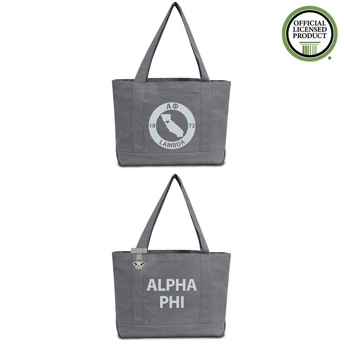 Alpha Phi State Book Tote Bag | Brit and Bee