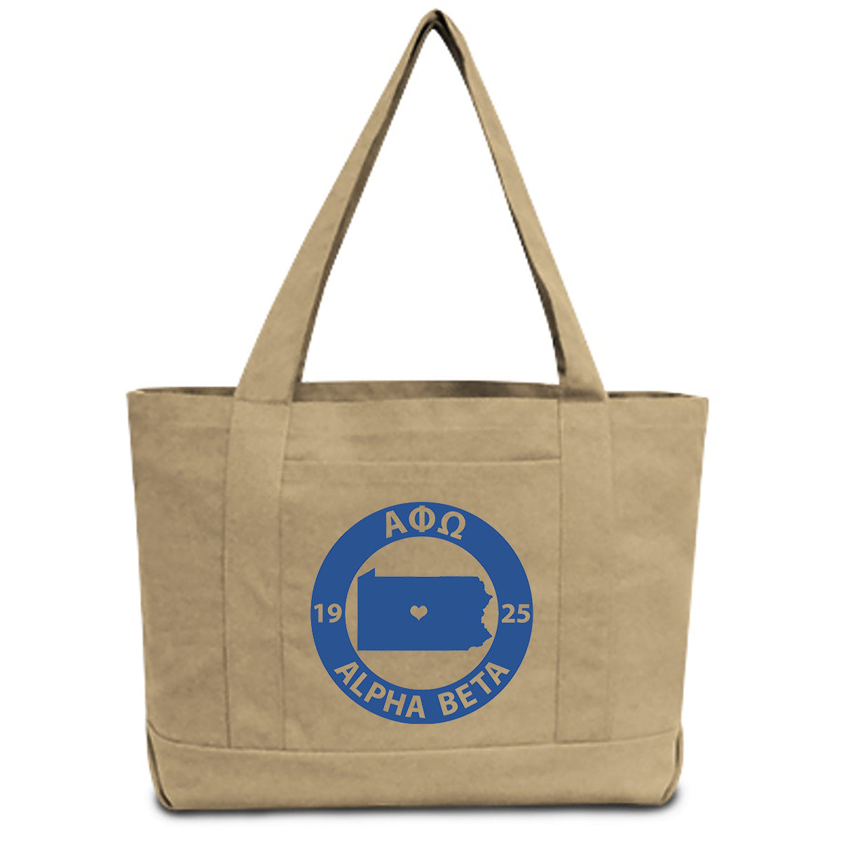 Alpha Phi Omega State Book Tote Bag | Brit and Bee
