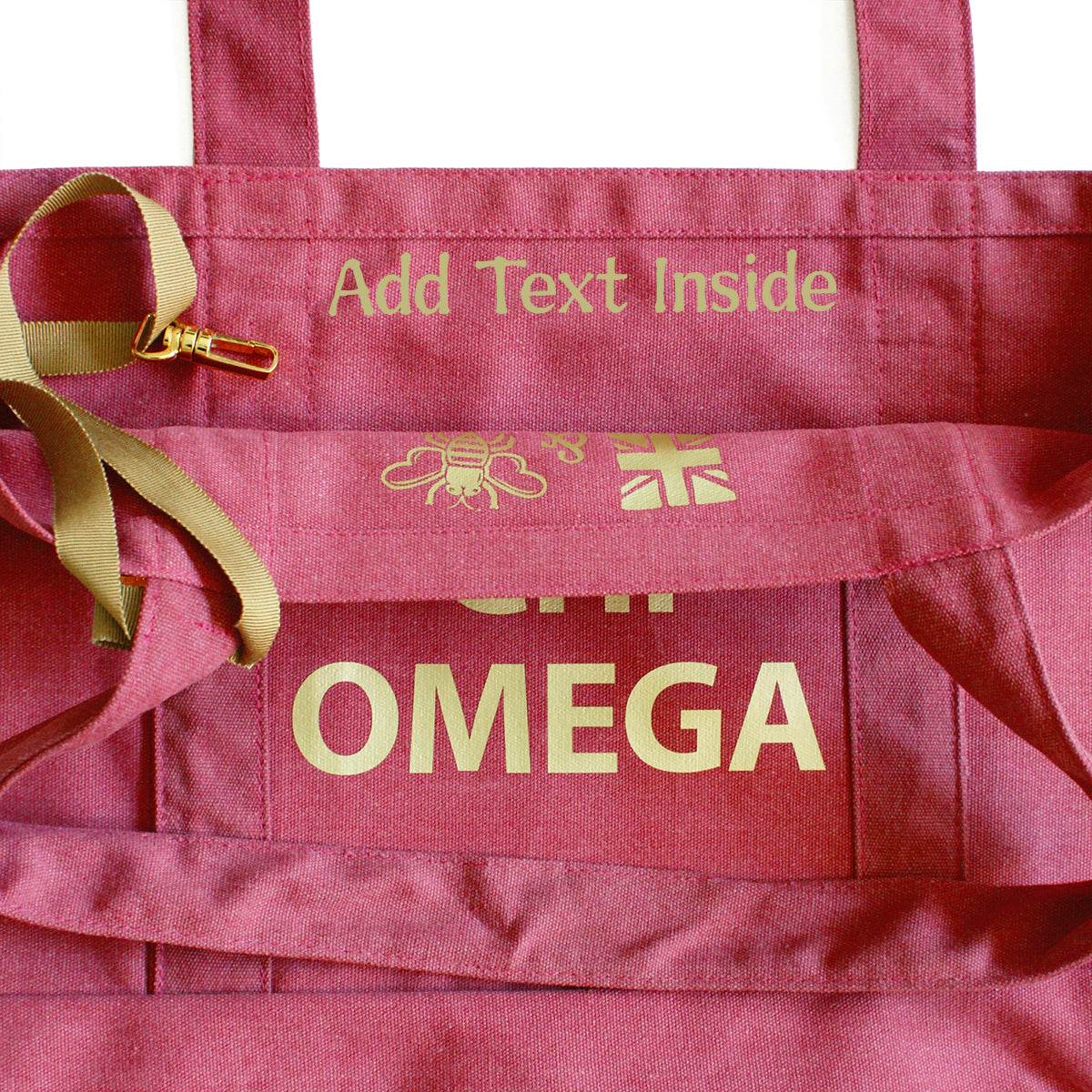 Chi Omega State Book Tote Bag | Brit and Bee