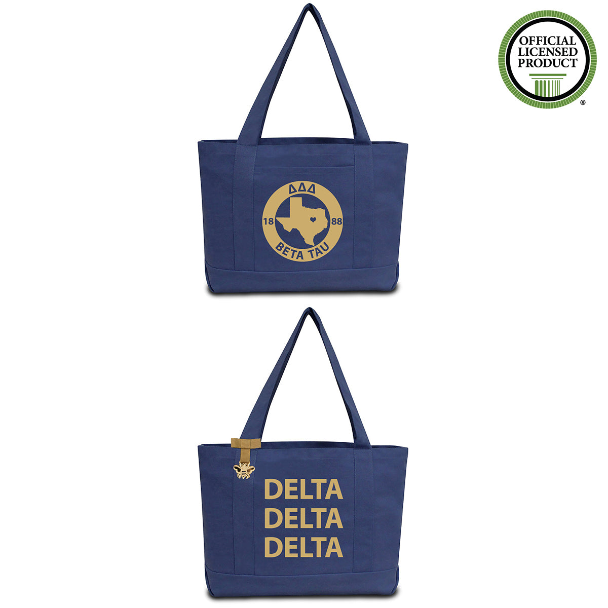 Delta Delta Delta State Book Tote Bag | Brit and Bee