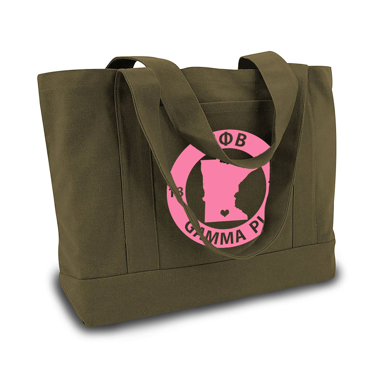 Gamma Phi Beta State Book Tote Bag | Brit and Bee