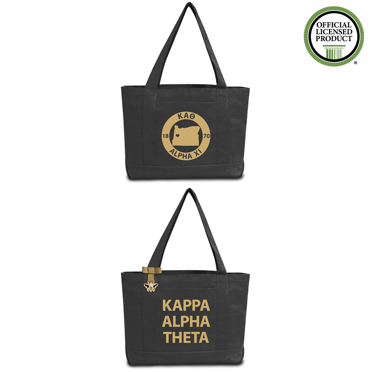Kappa Alpha Theta State Book Tote Bag | Brit and Bee