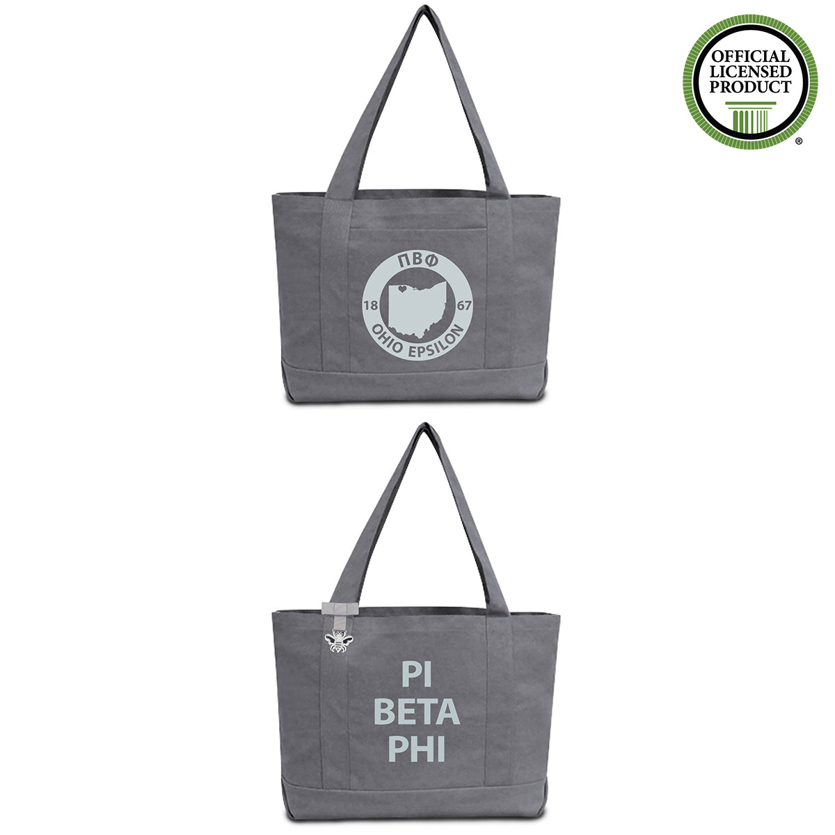 Pi Beta Phi State Book Tote Bag | Brit and Bee