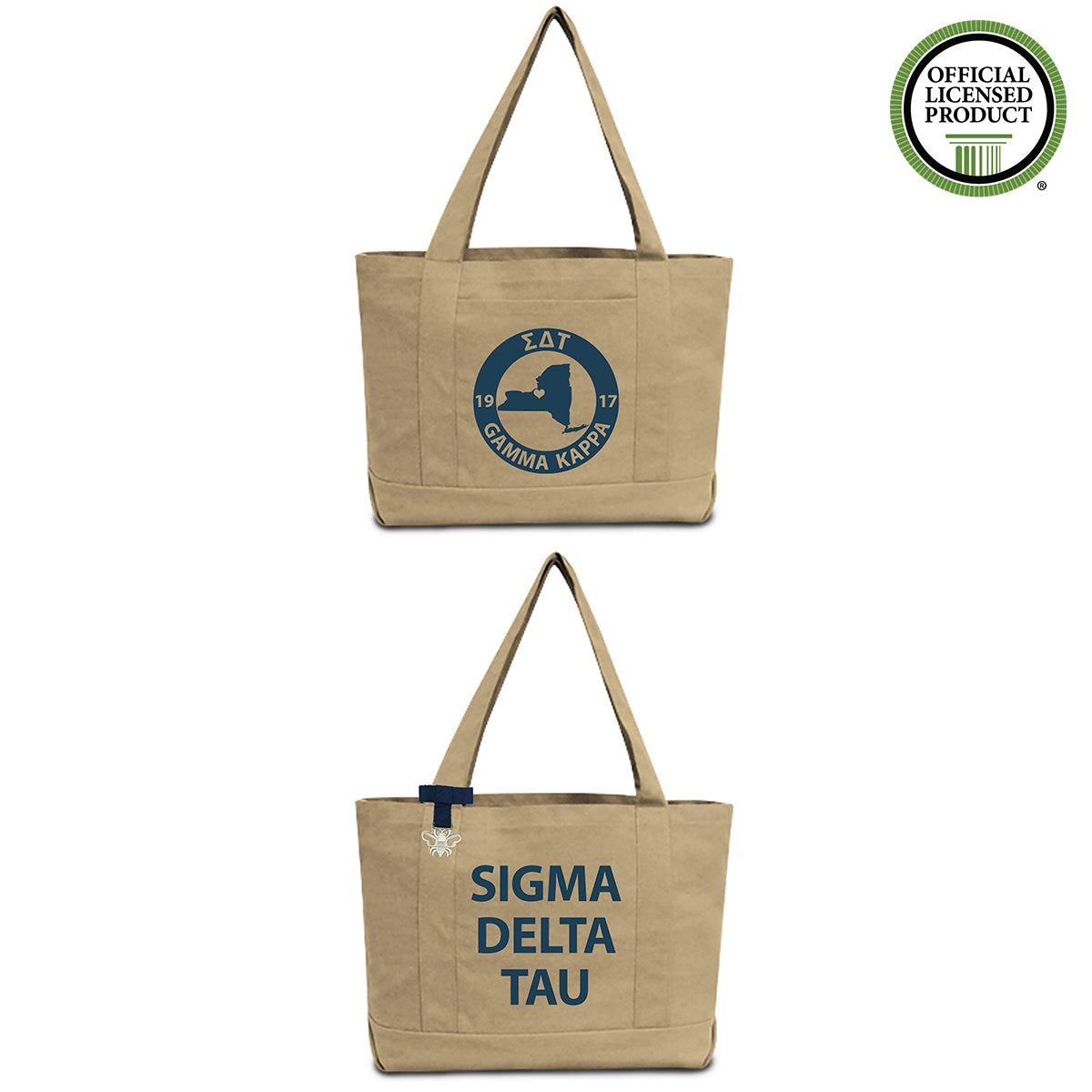 Sigma Delta Tau State Book Tote Bag | Brit and Bee