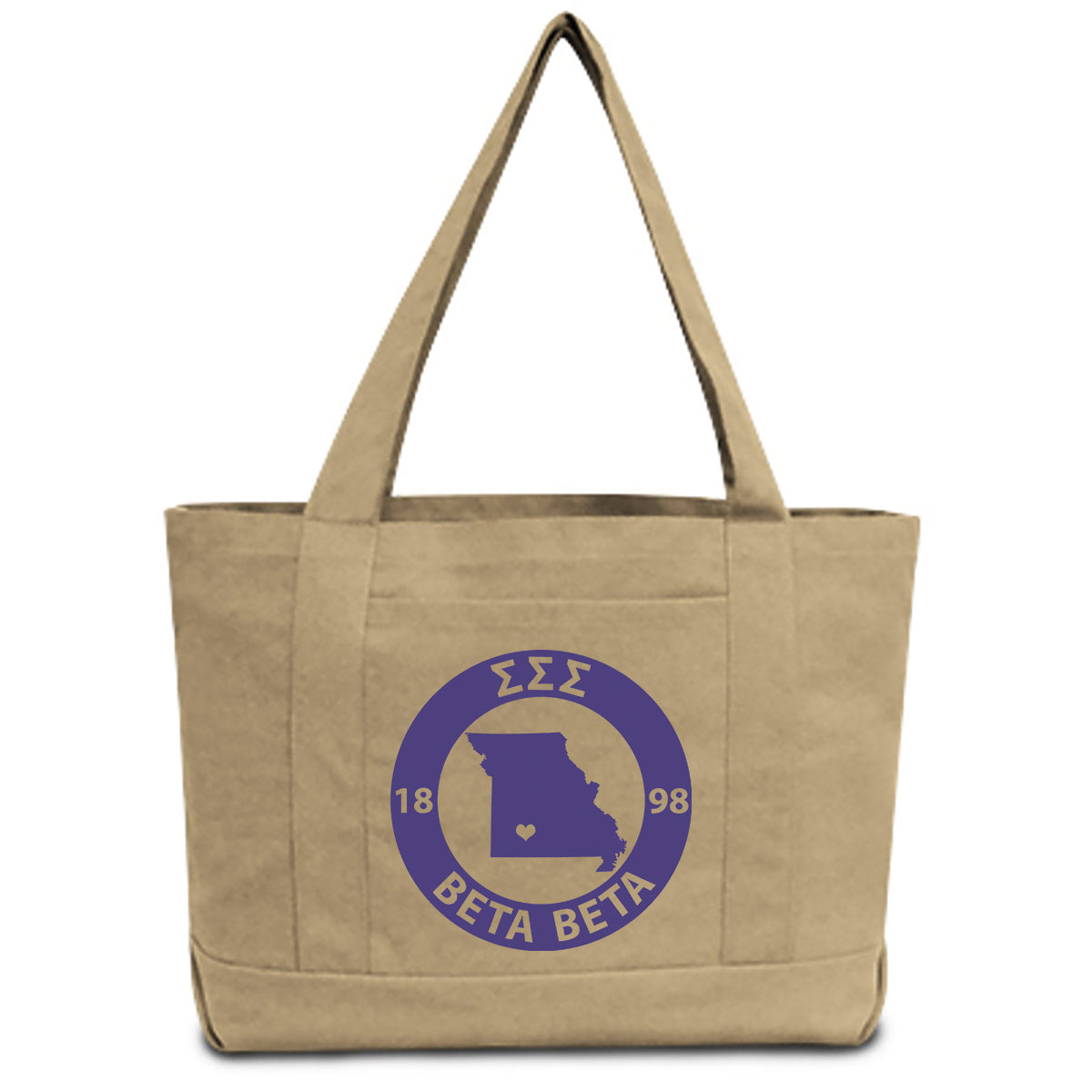 Sigma Sigma Sigma State Book Tote Bag | Brit and Bee
