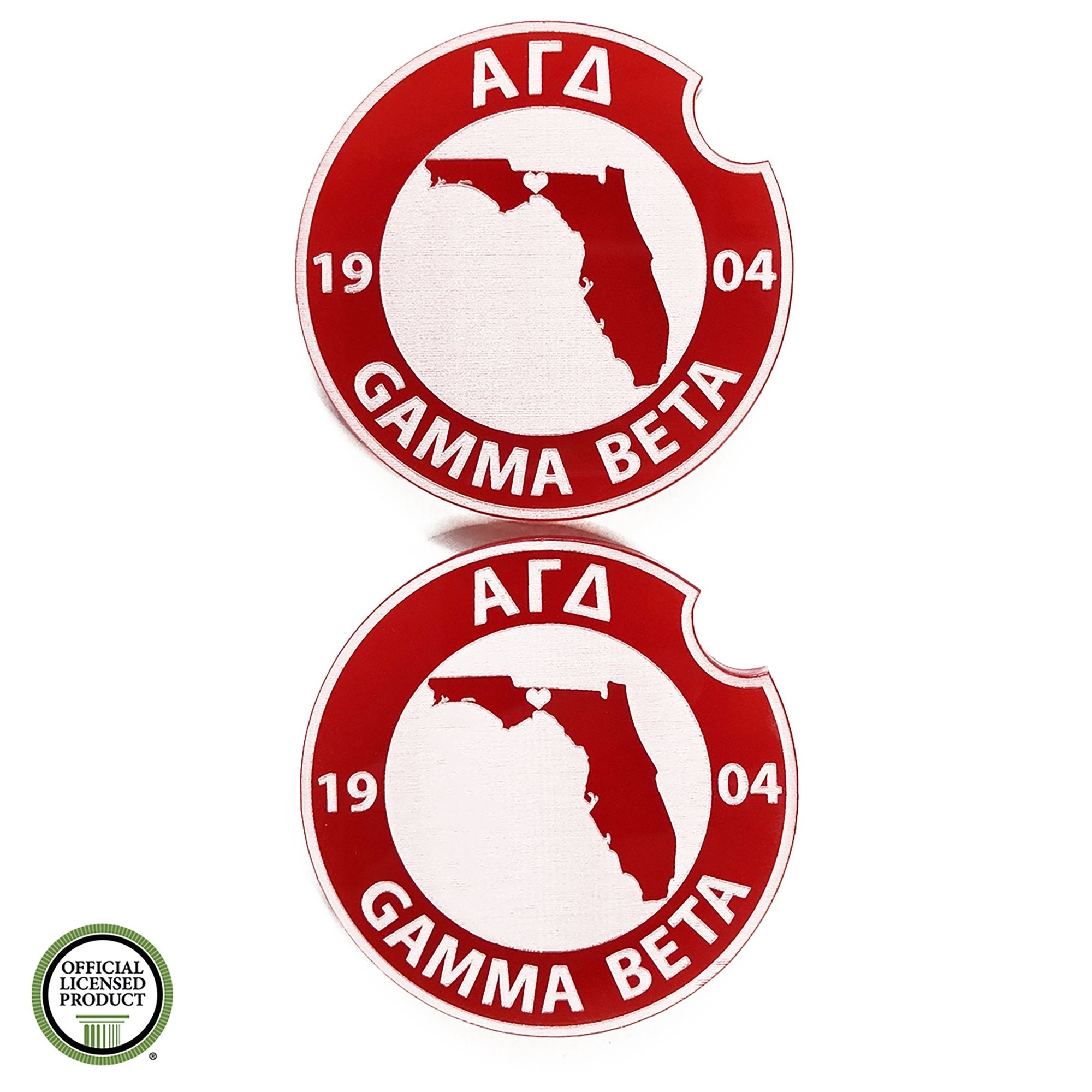 Alpha Gamma Delta Car Coasters | Brit and Bee