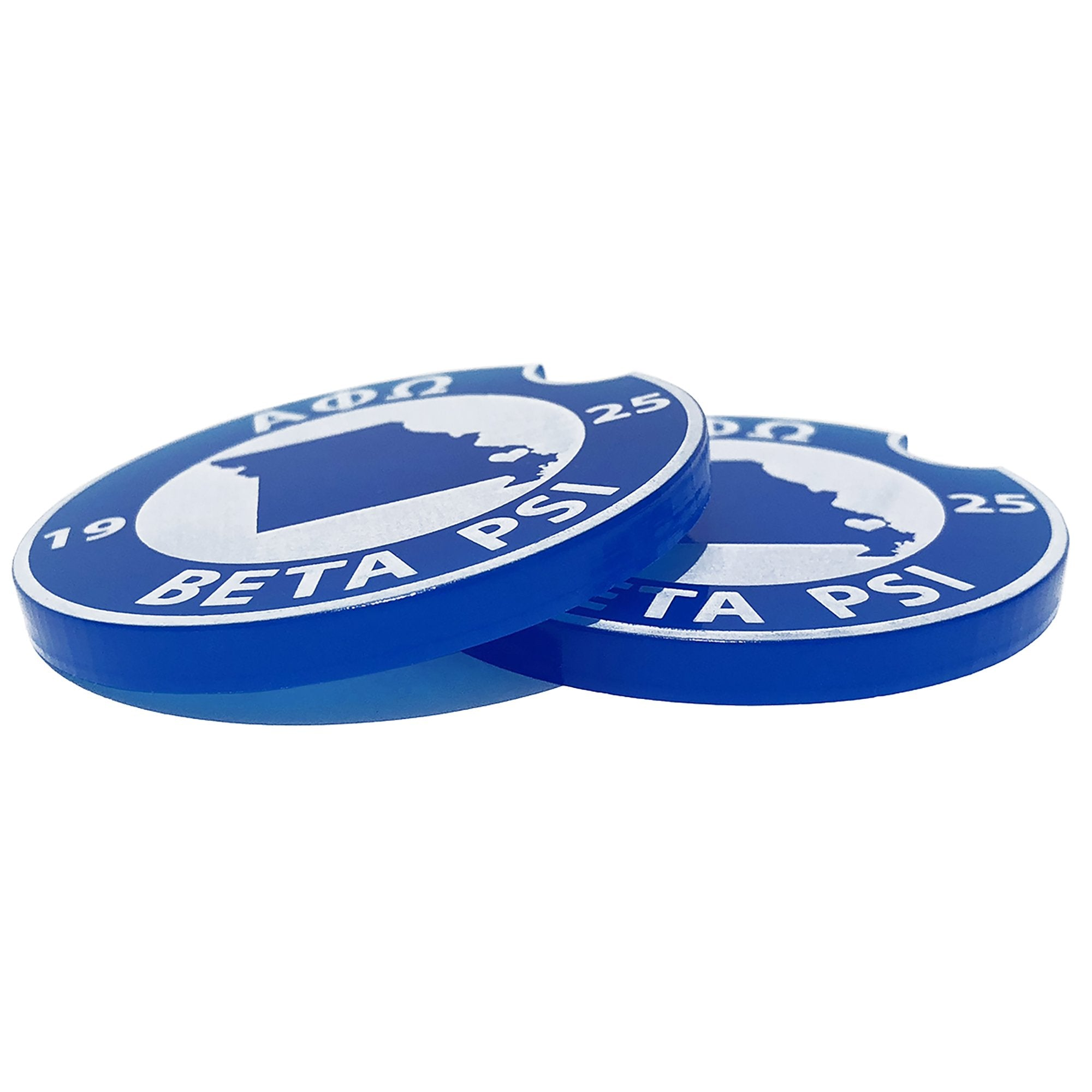 Alpha Phi Omega Car Coasters | Brit and Bee