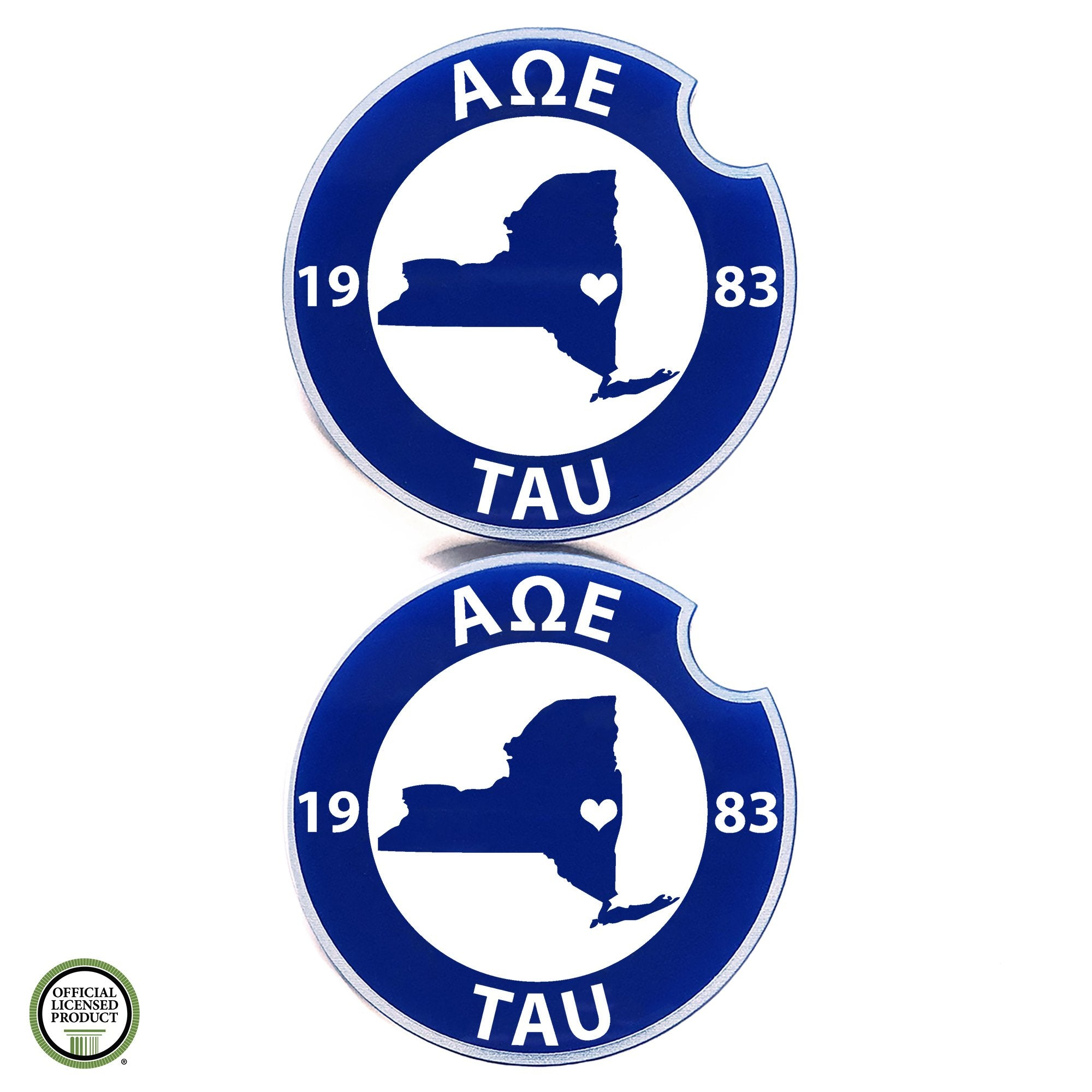 Alpha Omega Epsilon Car Coasters | Brit and Bee