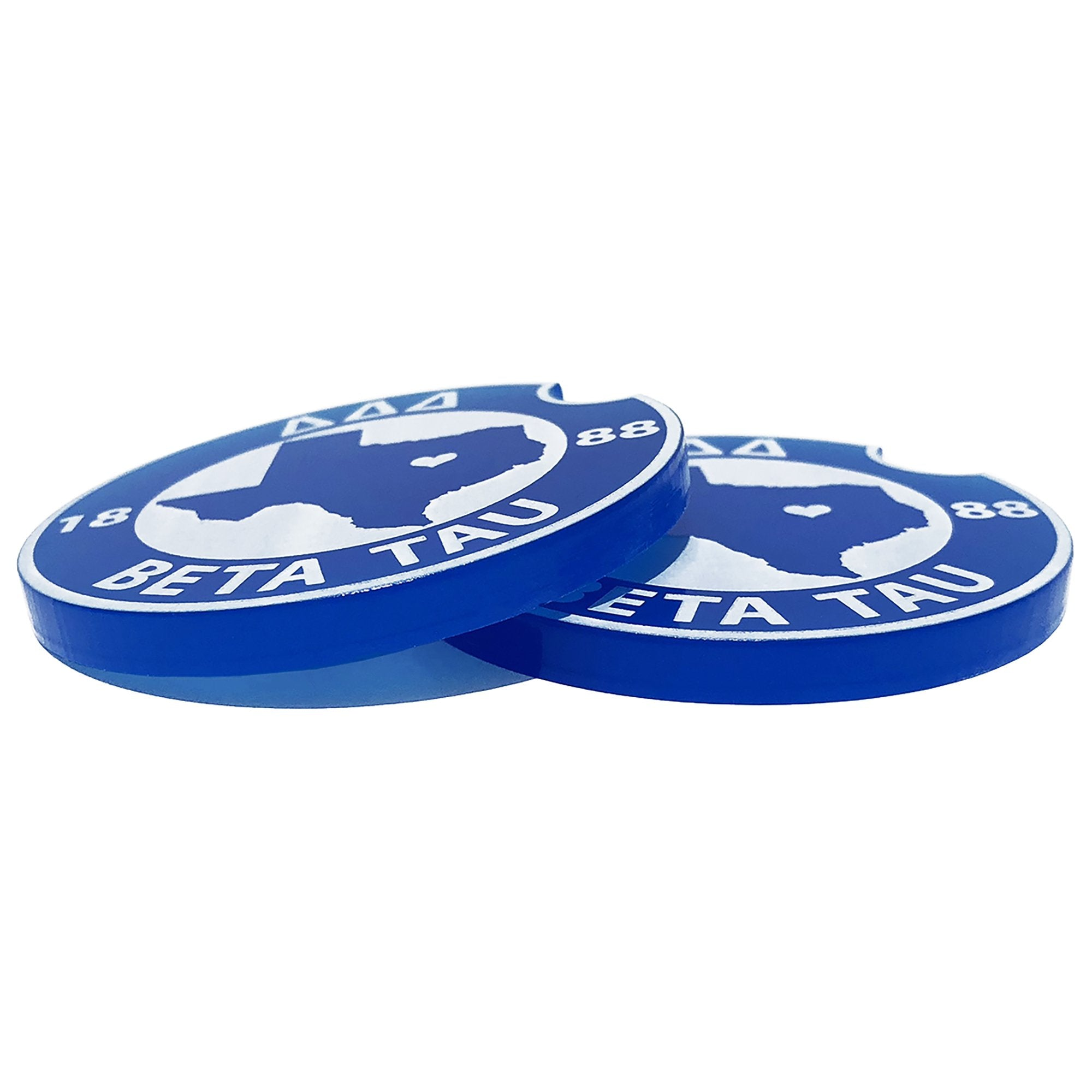 Tri Delta Car Coasters | Brit and Bee