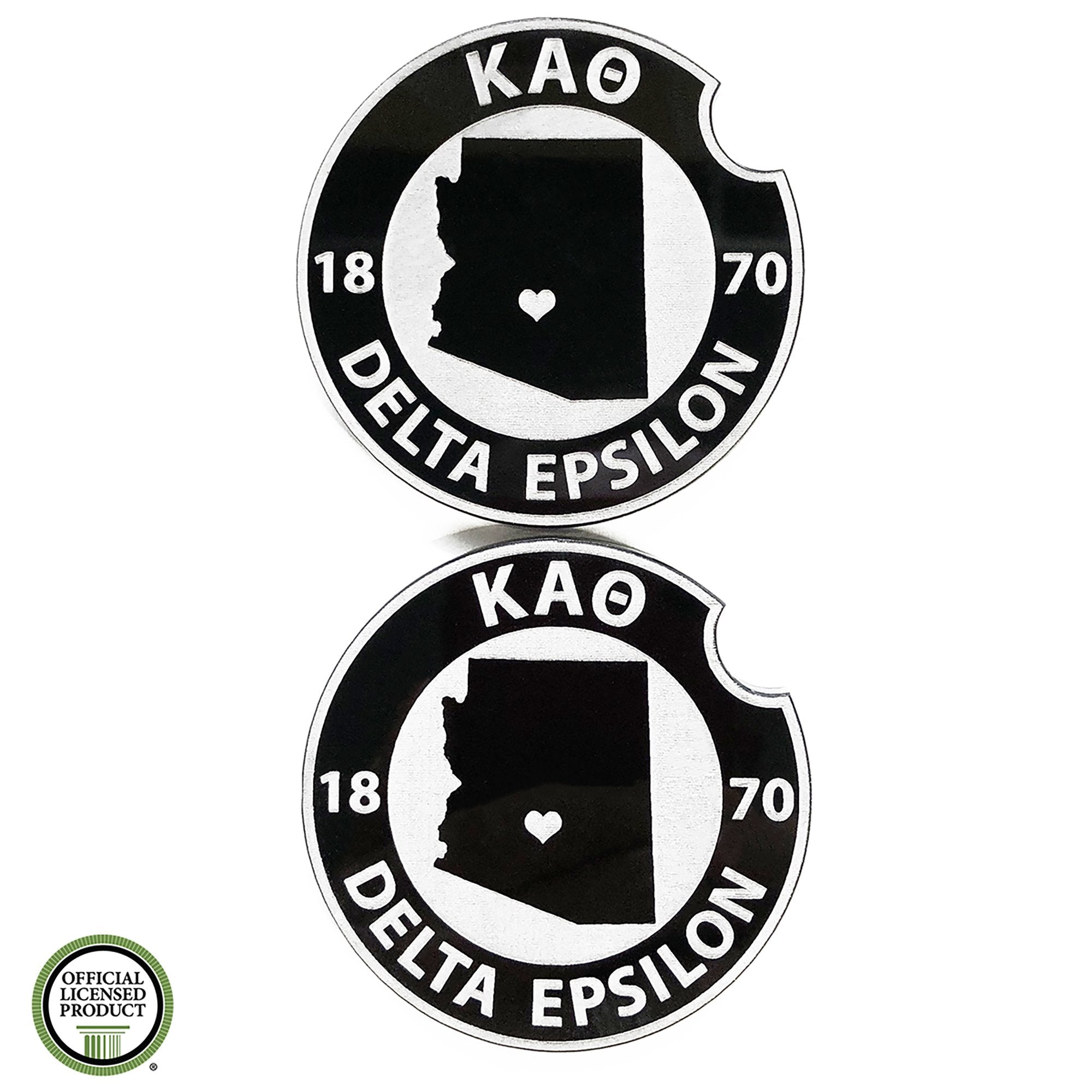 Kappa Alpha Theta Car Coasters | Brit and Bee