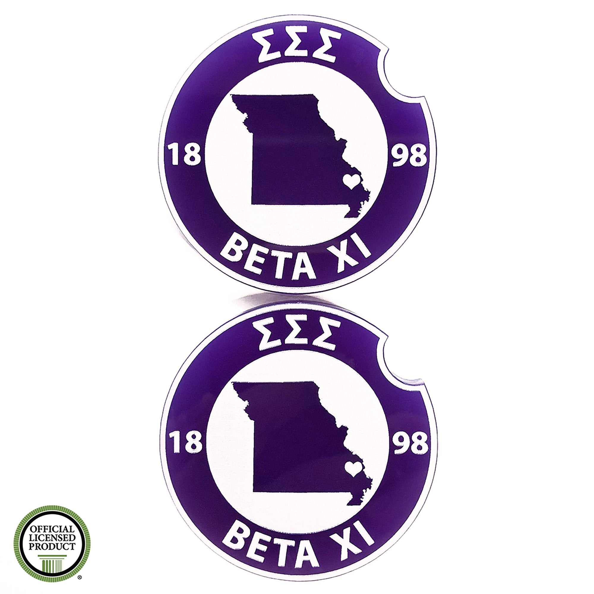 Tri Sigma Car Coasters | Brit and Bee