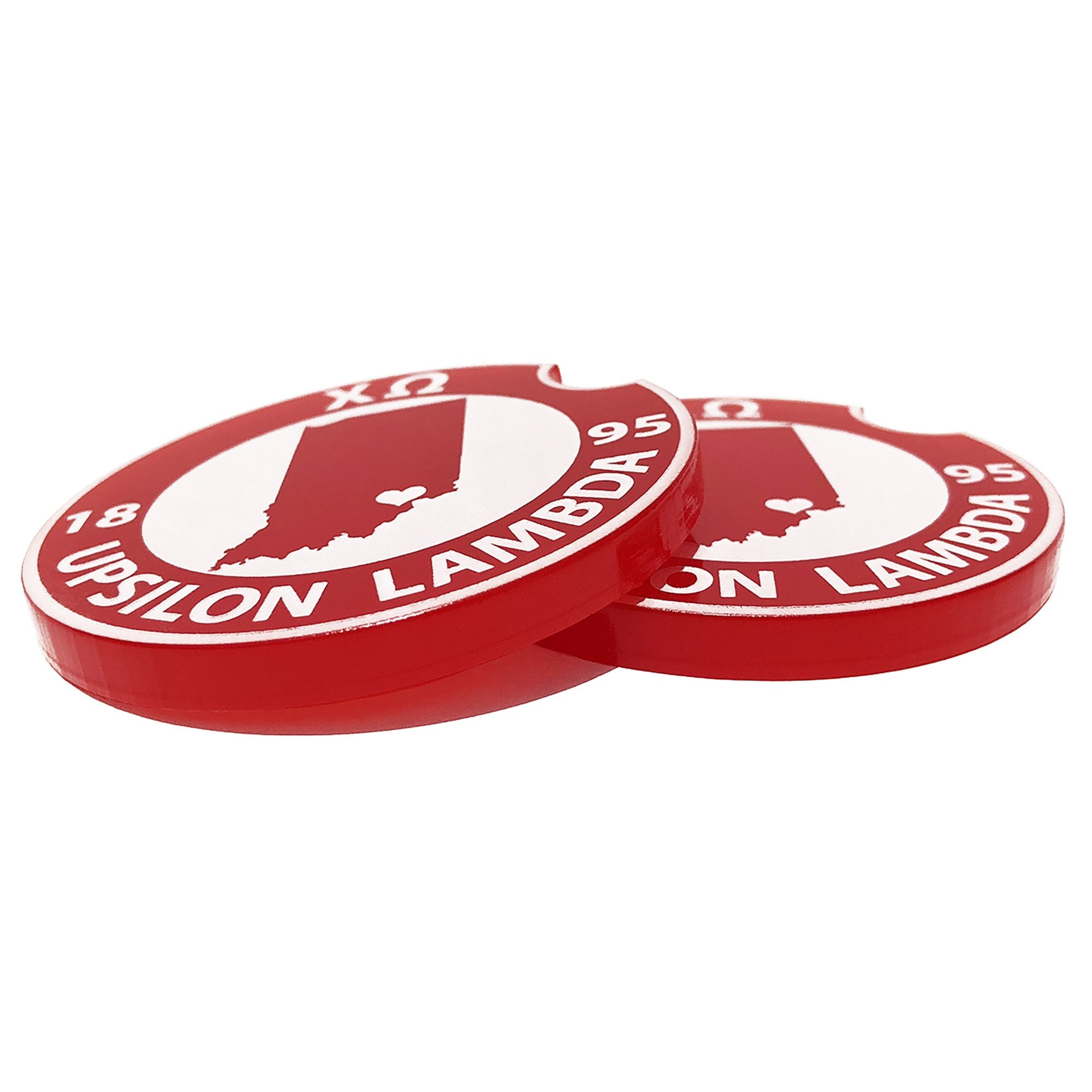 Chi Omega Car Coasters | Brit and Bee