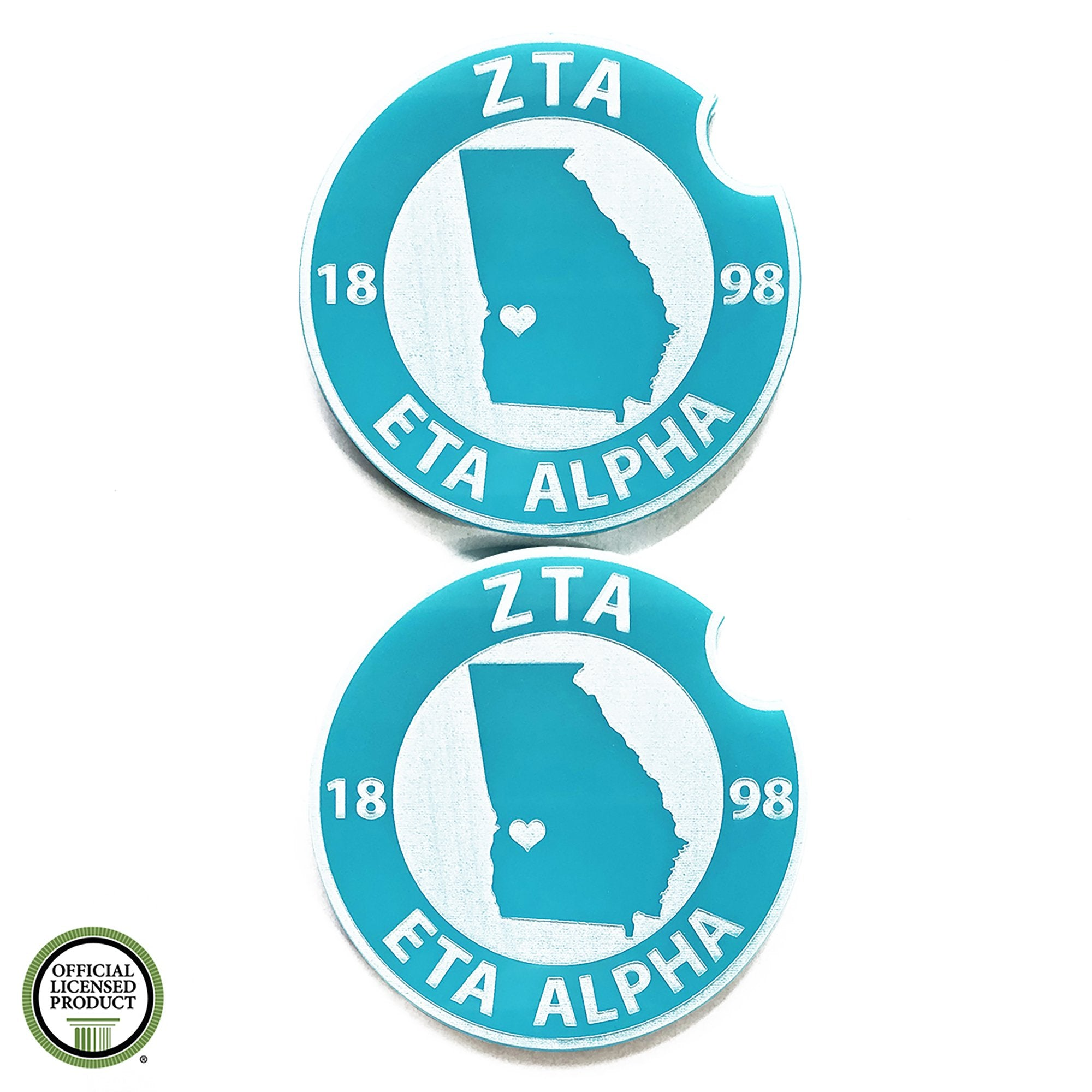 Zeta Tau Alpha Car Coasters | Brit and Bee