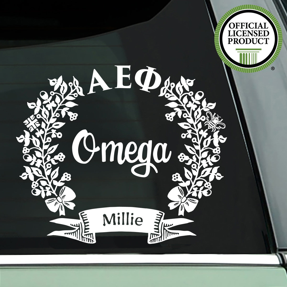Brit and Bee Sorority Chapter Decal - Alpha Epsilon Phi