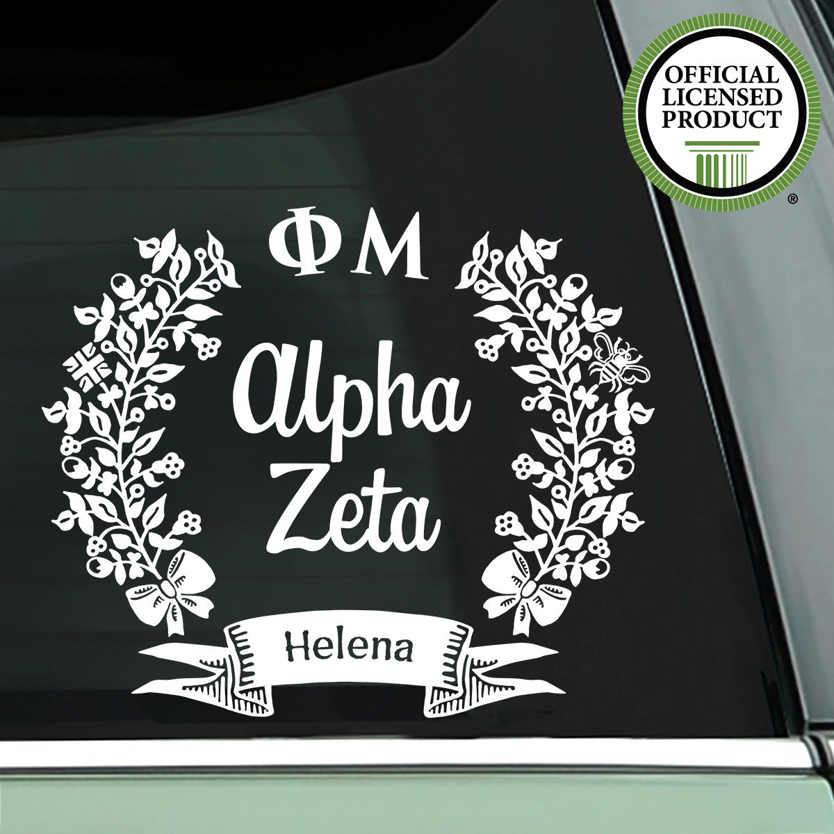 Brit and Bee Sorority Chapter Decal - Phi Mu