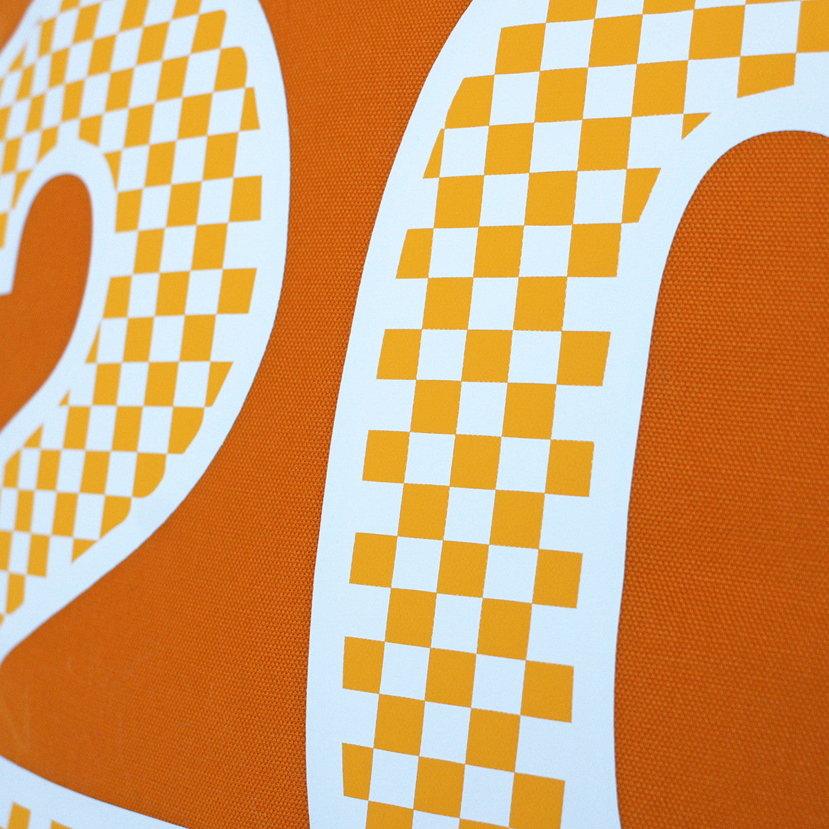 Brit and Bee Checkerboard Number Throw Pillow DETAIL