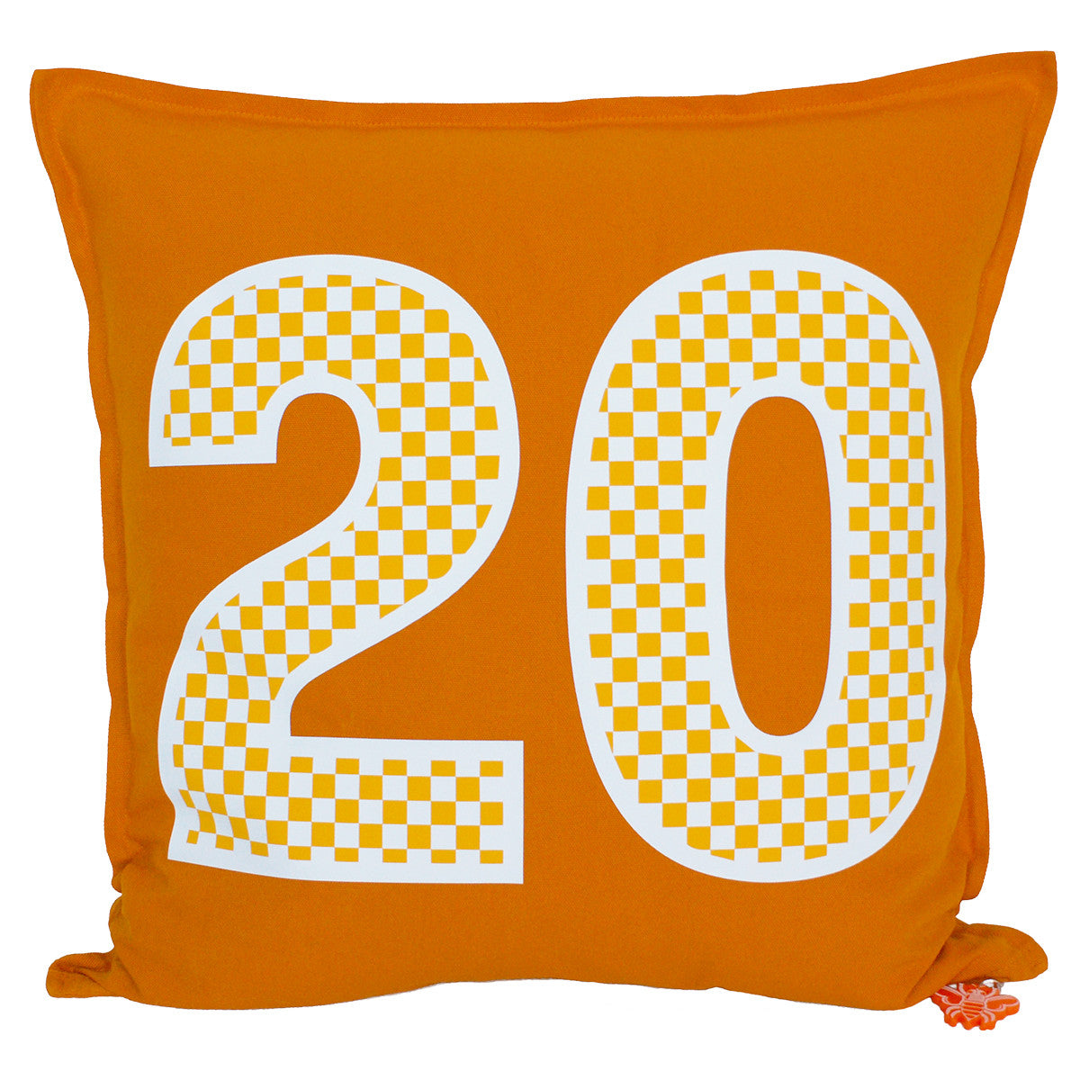Brit and Bee Checkerboard Number Throw Pillow FRONT