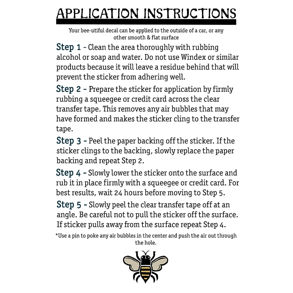 Application Instructions | Brit and Bee