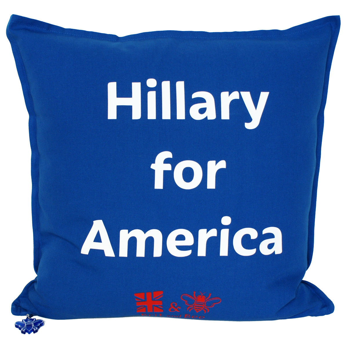 Brit and Bee Election Year Throw Pillow - Hillary 2016 BACK
