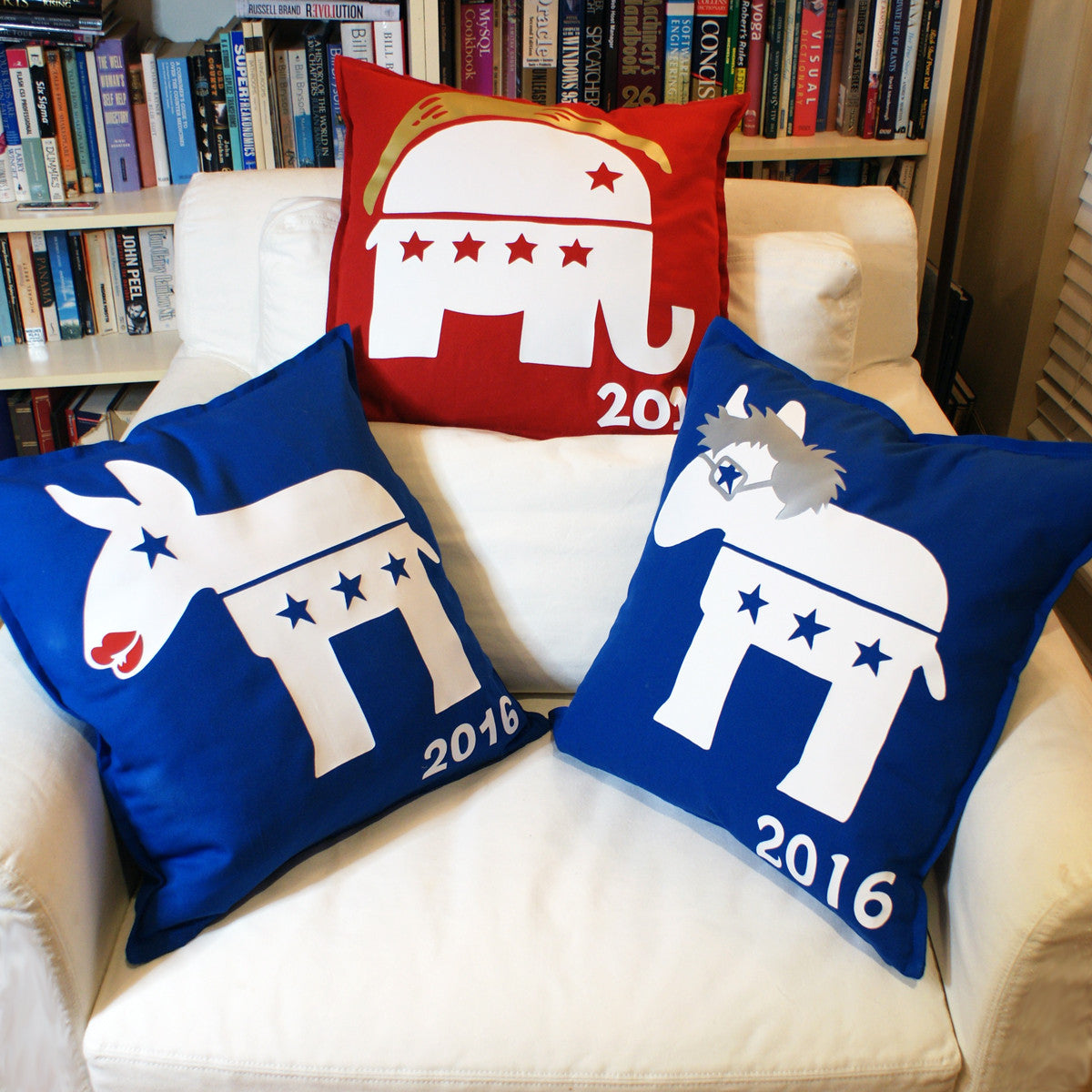 Brit and Bee Election Year Throw Pillows - Collection 2016 FRONT