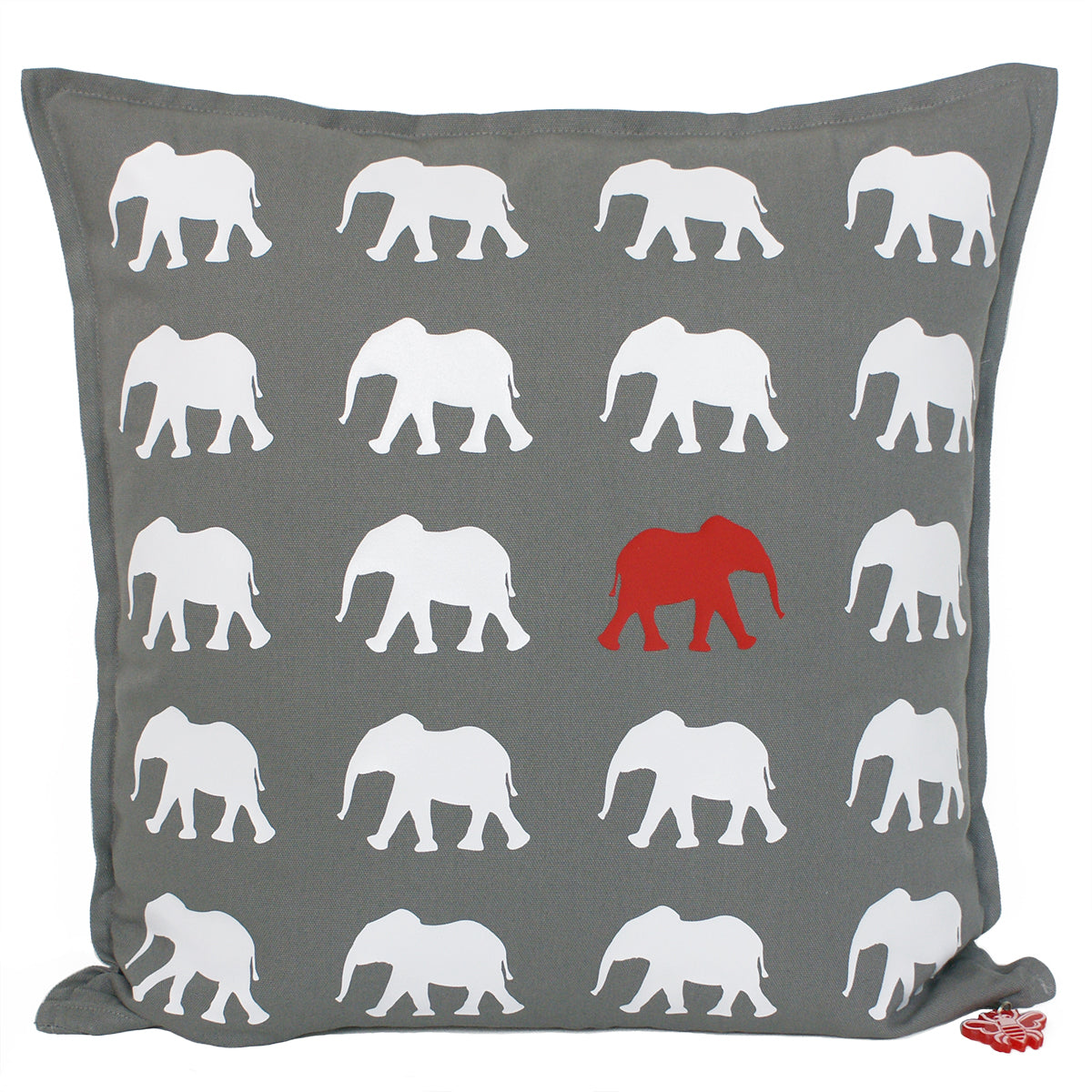 Brit and Bee Elephant Throw Pillow