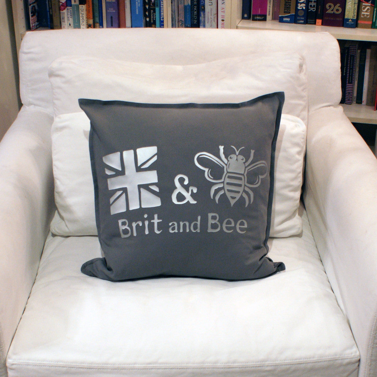 Brit and Bee Est. Throw Pillow Silver - CHAIR