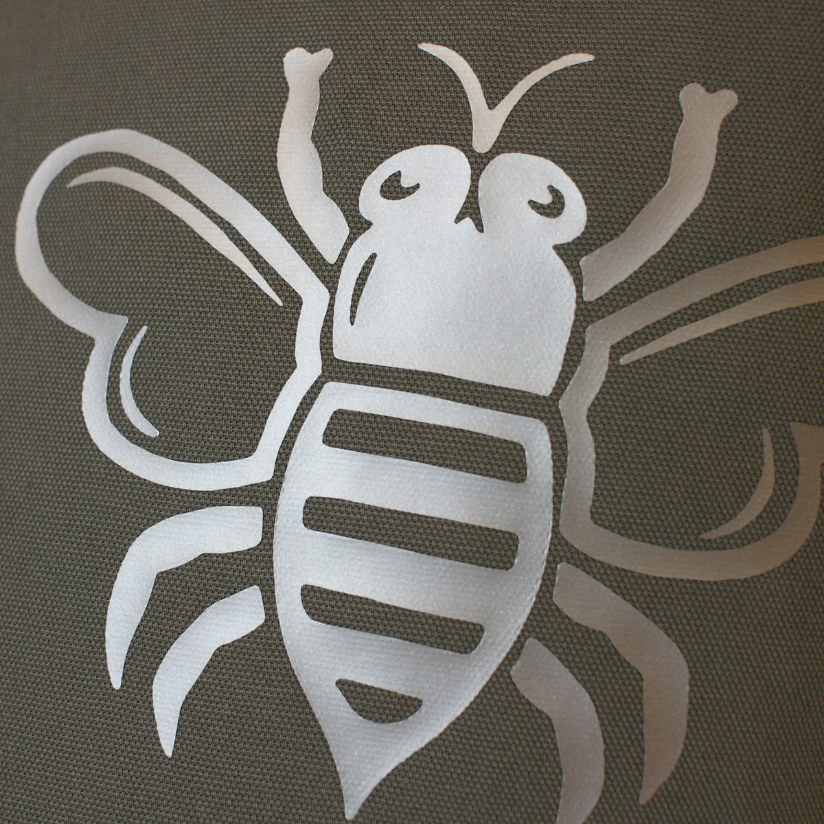 Brit and Bee Est. Throw Pillow Silver - DETAIL