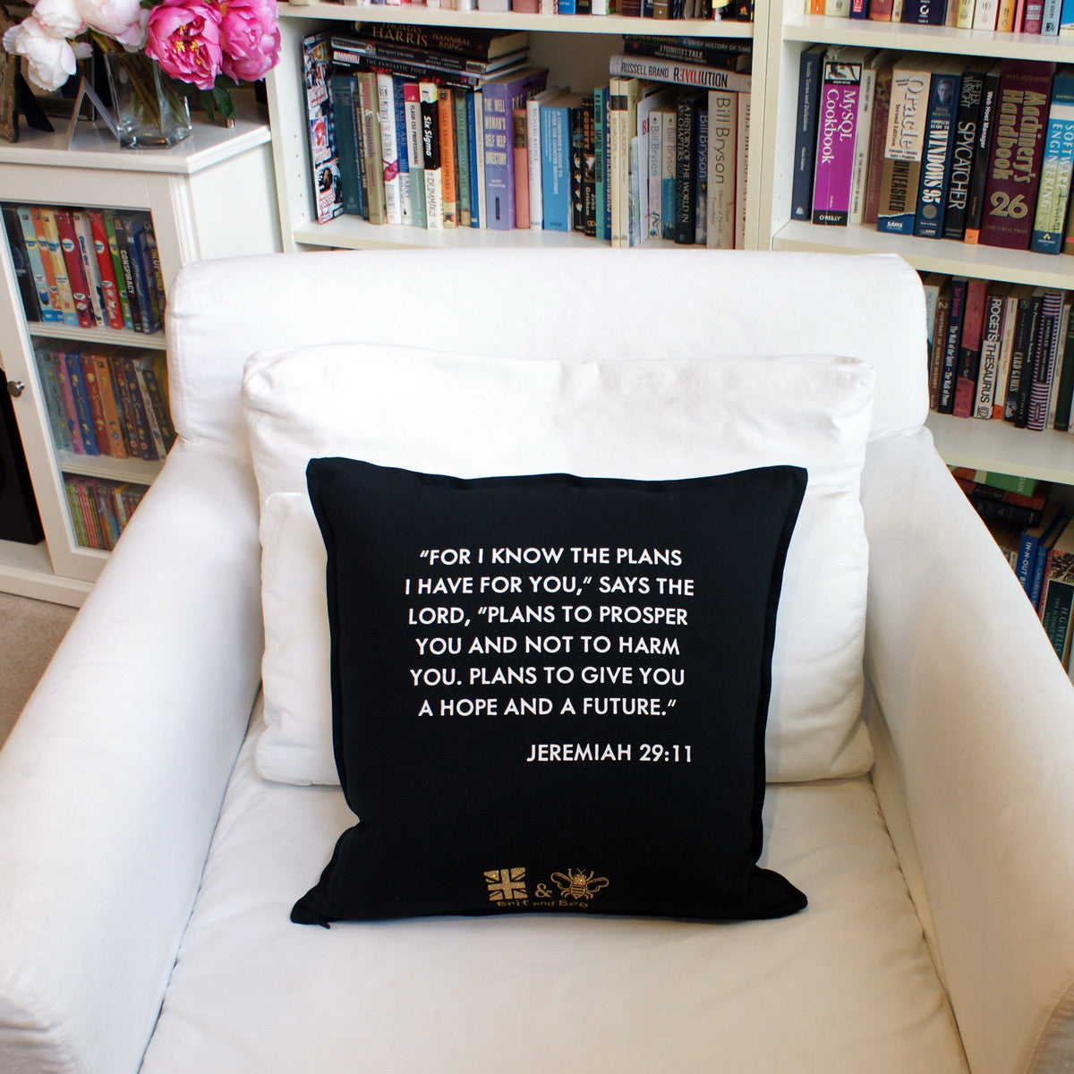 Brit and Bee Graduation Garland Throw Pillow - CHAIR Back